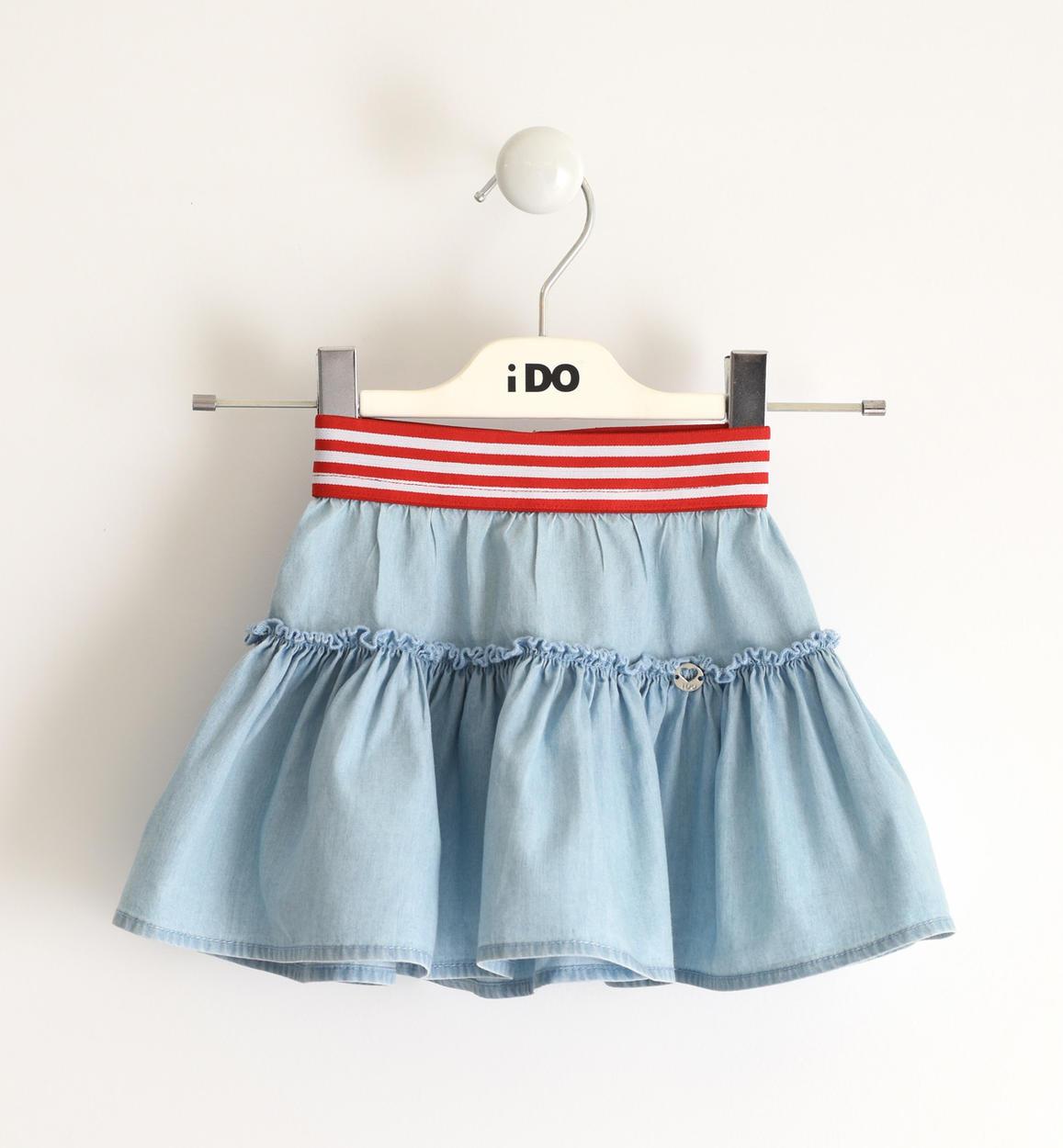 aaaaaaagonna in chambray leggero 100 cotone pe blu chiaro lavato fronte 01 1654j77900 7310