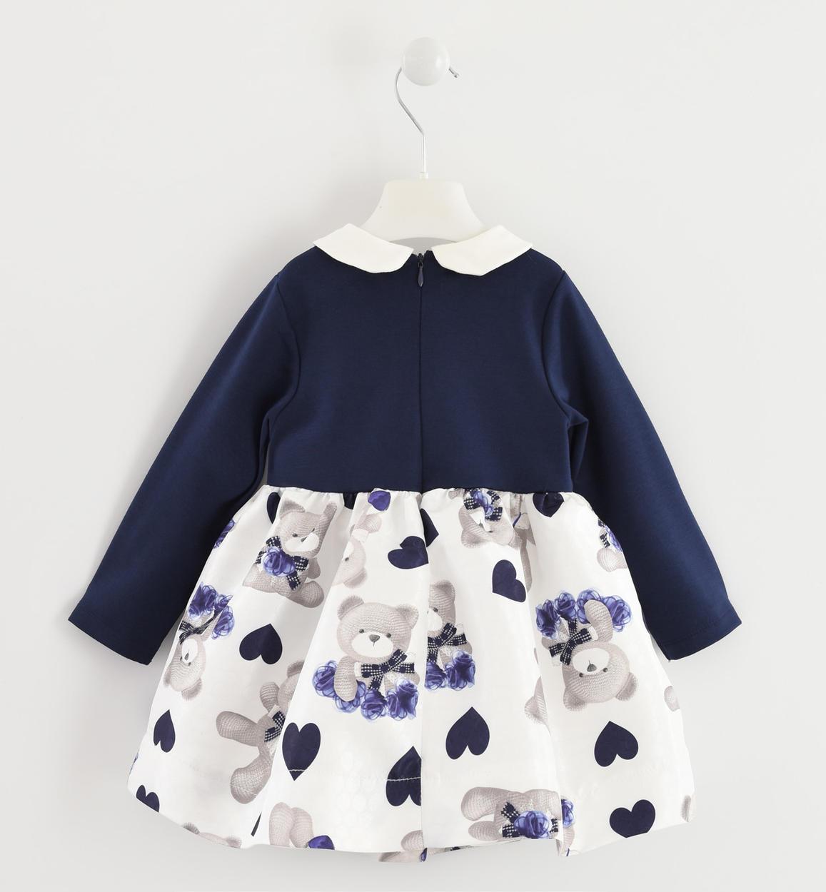 abito elegante con gonna tessuto jacquar blu retro 02 1444k65400 8134 150x150