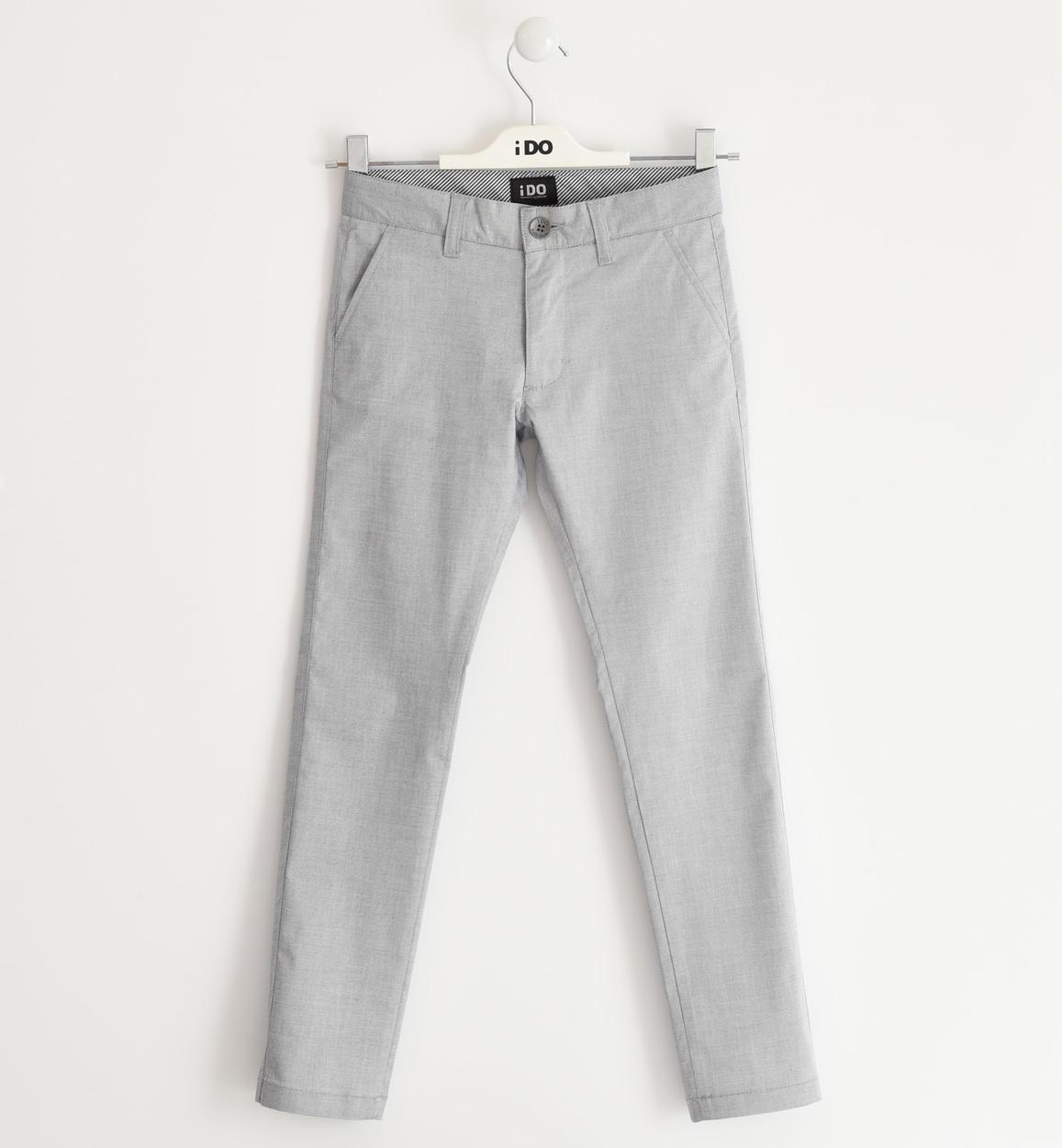 elegante e fresco pantalone per bambino grigio fronte 01 2524j42100 0516