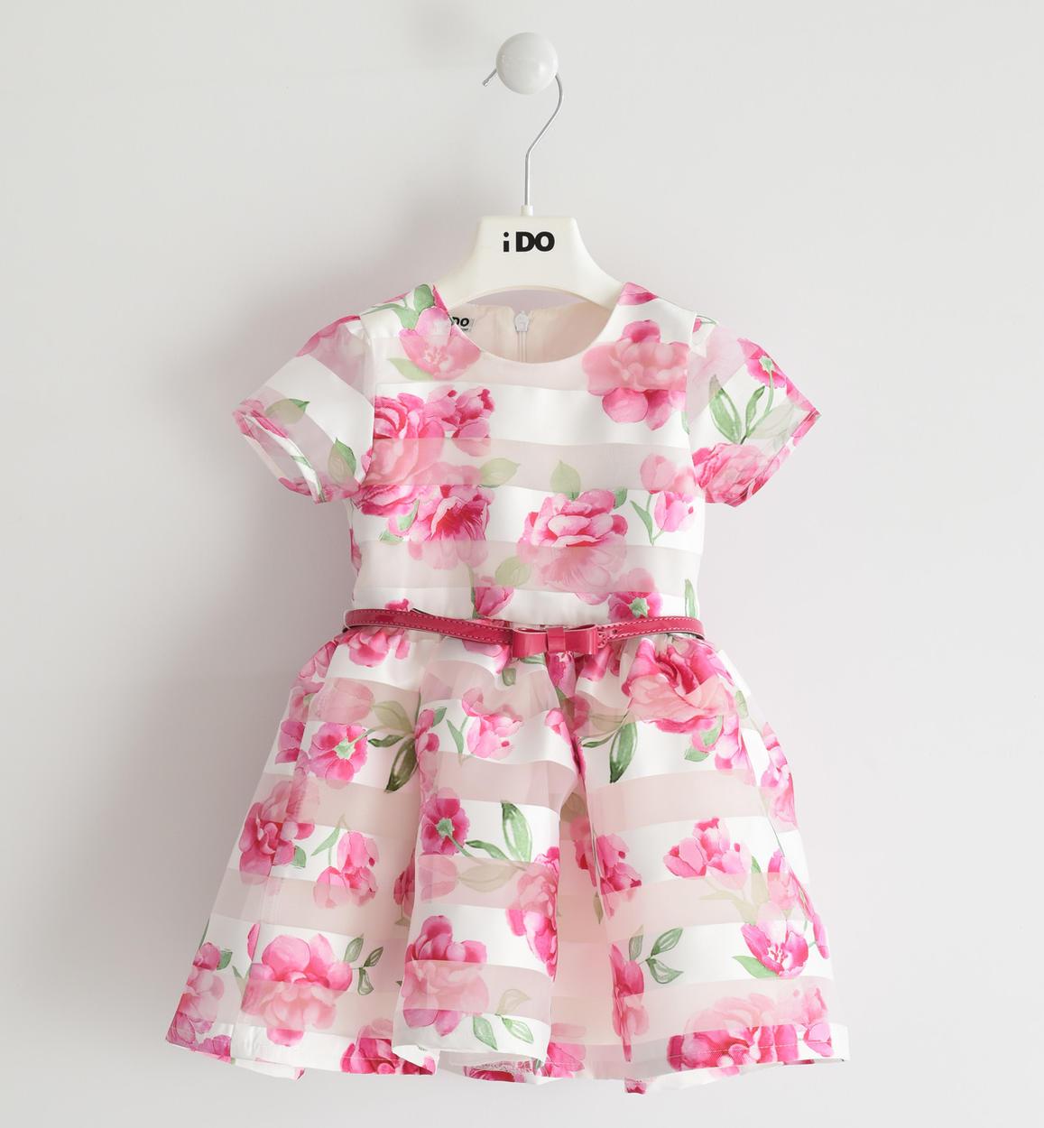 elegante e romantico abito con stampa fl panna fronte 01 1444j29400 6me9