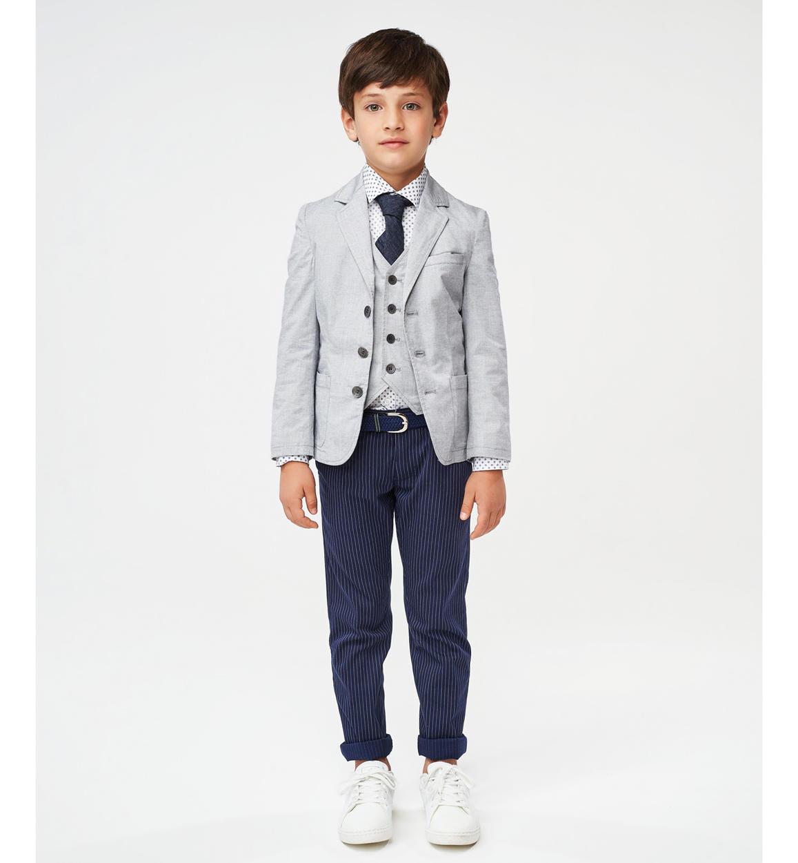 elegante gilet in popeline per bambino d grigio dettaglio 03 2904j46900 0516 150x150