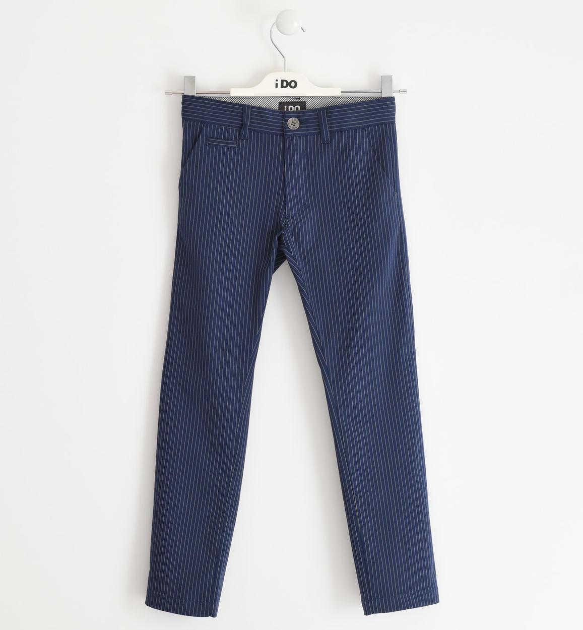 fiú csíkos kék alkalmi nadrág