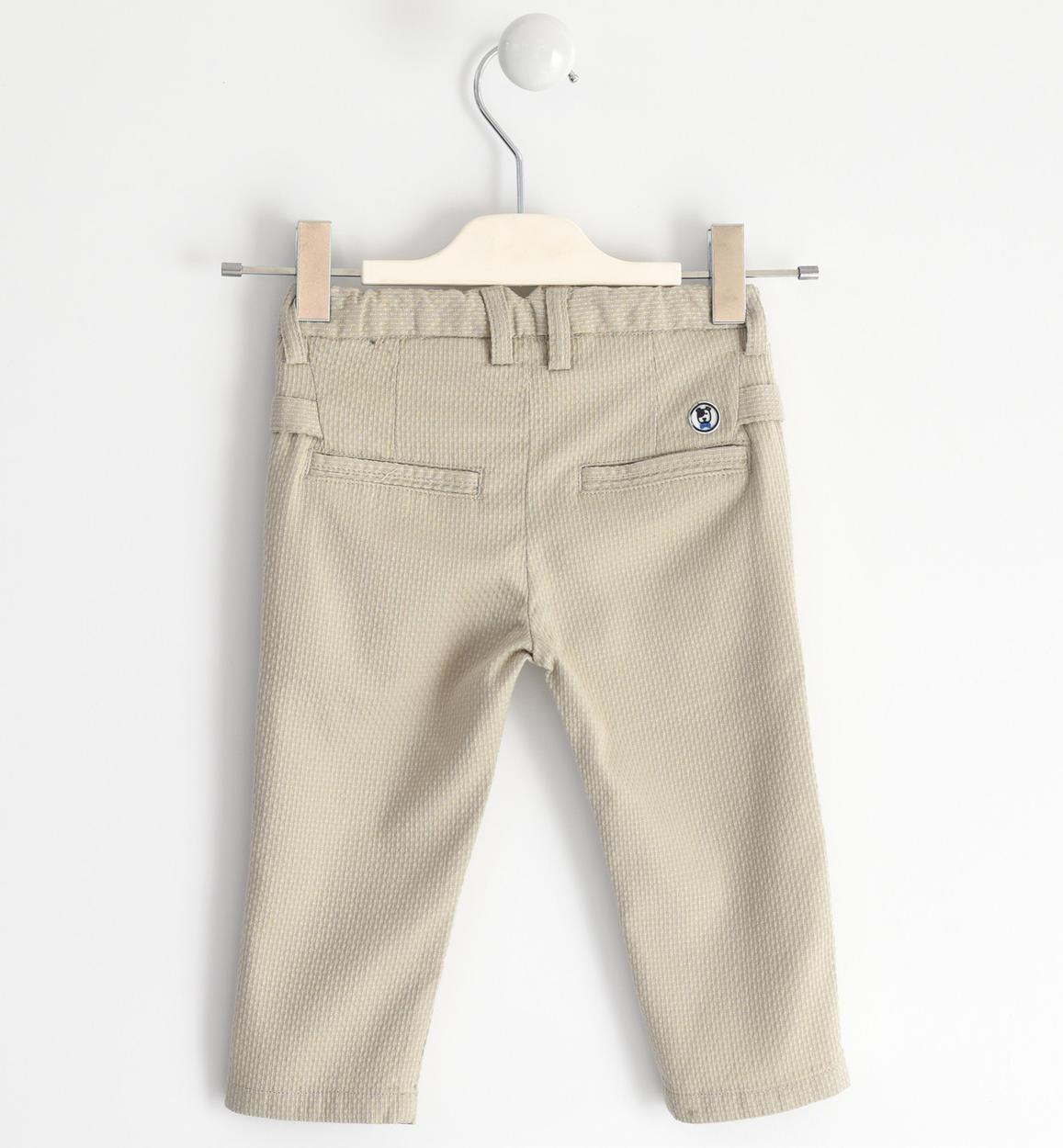 elegante pantalone in tessuto operato di beige retro 02 1220j14200 0435 150x150