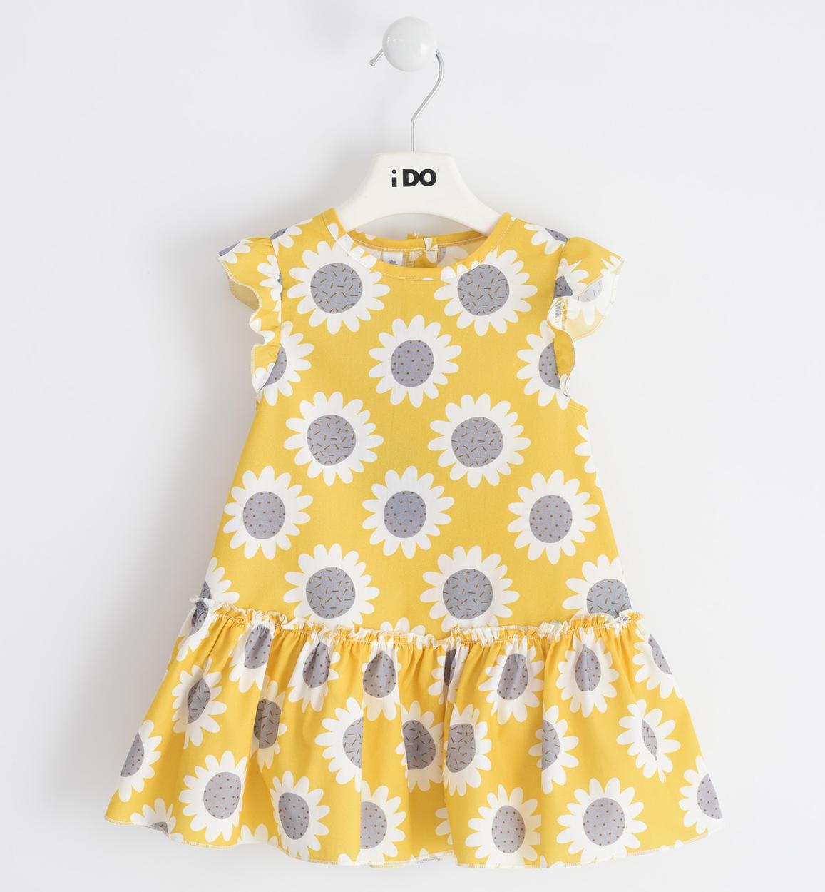 Sárga pamut virágos ruha