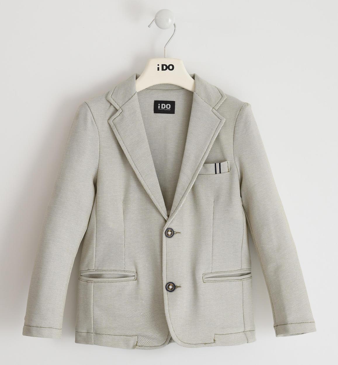 giacca in felpa micro pois per bambino d panna fronte 01 2744j46200 6mc7