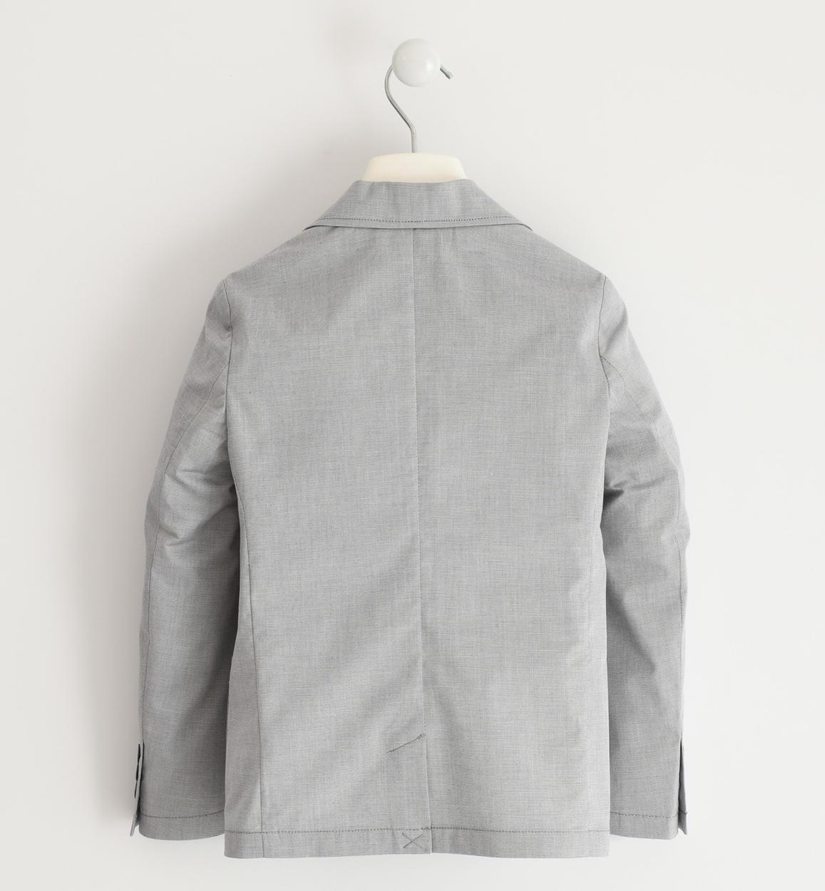 giacca in popeline stretch per bambino d grigio dettaglio 03 2744j46000 0516 150x150