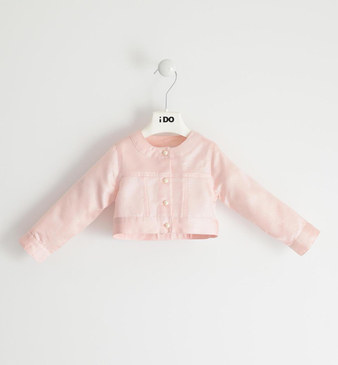 giacca lunghezza vita con fili lurex per rosa fronte 01 1804j35100 8343