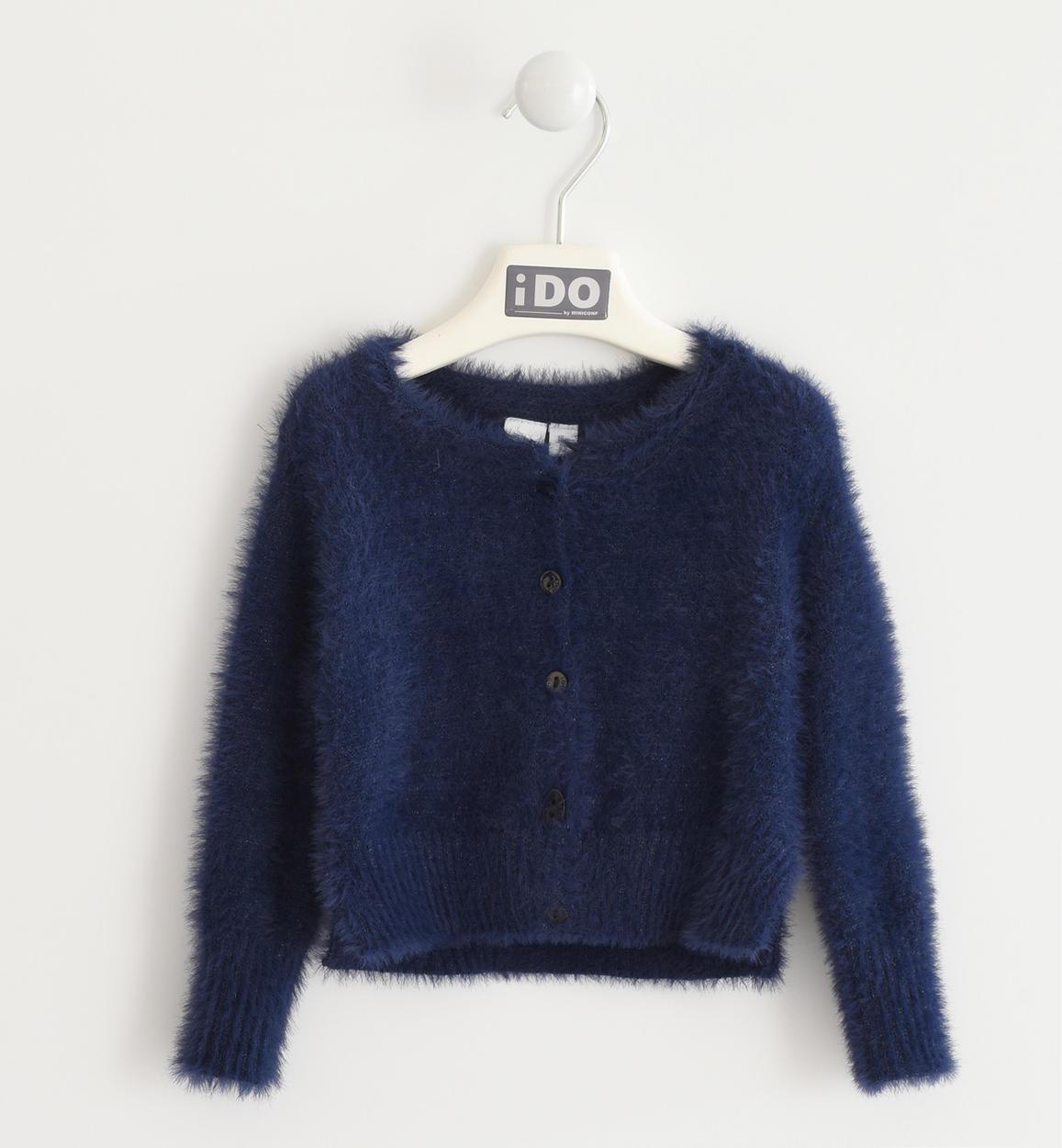 kék szőrös kislány pulóver