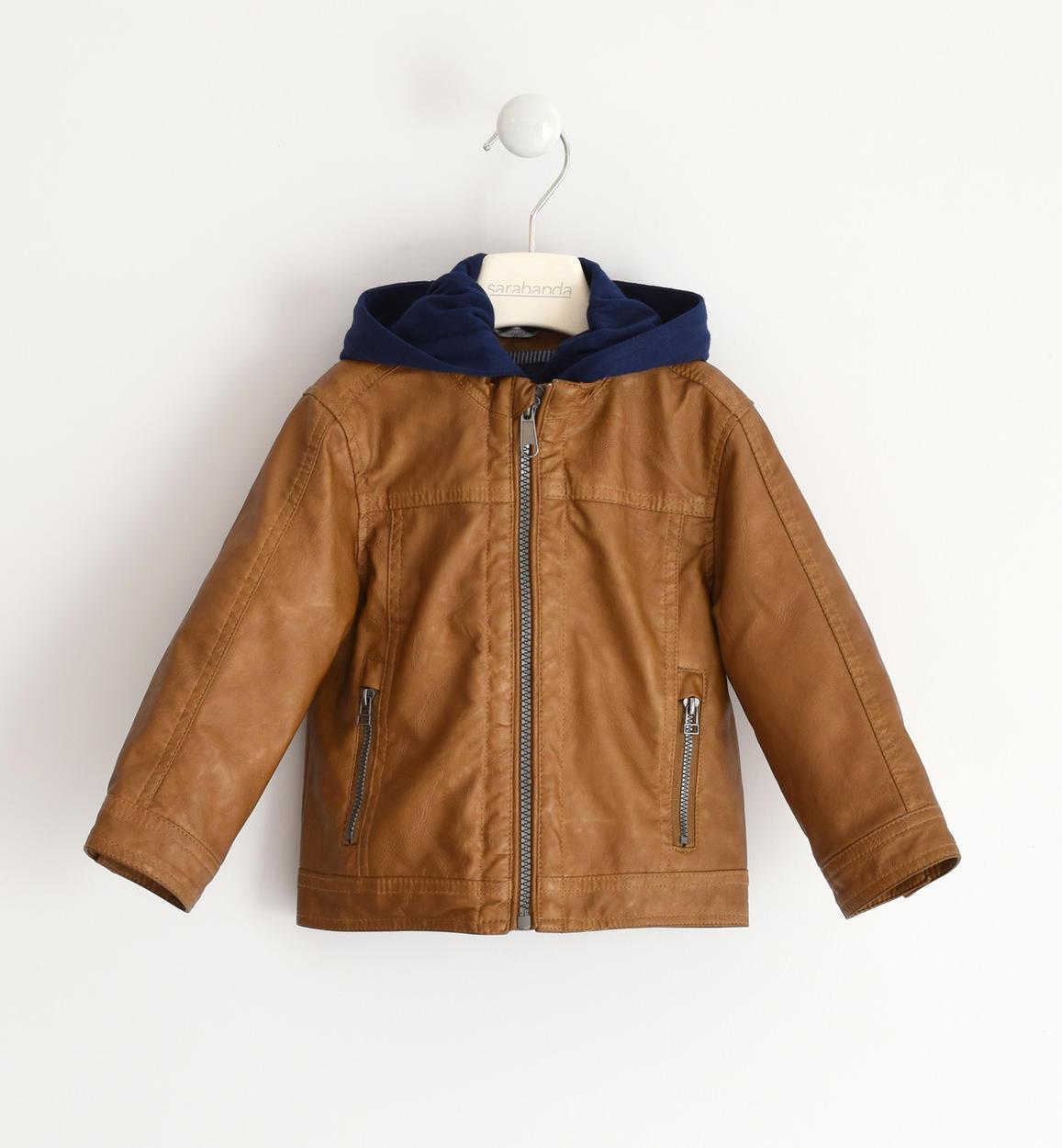 barna fiú bőrkabát dzseki