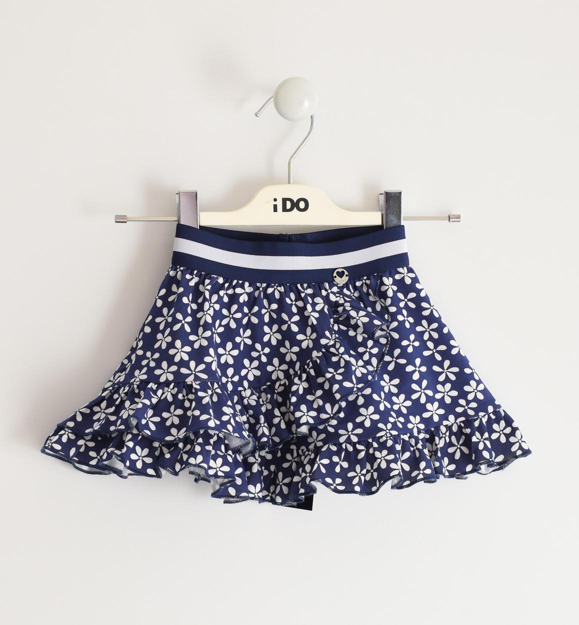 kék virágos pamut kislány szoknya
