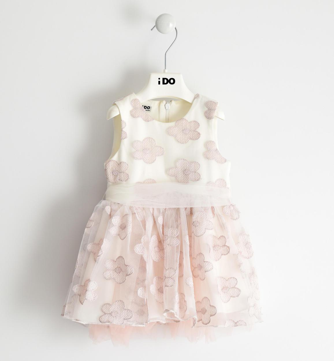 importante abito in tulle ricamato con f panna rosa fronte 01 1444j29500 8146 1