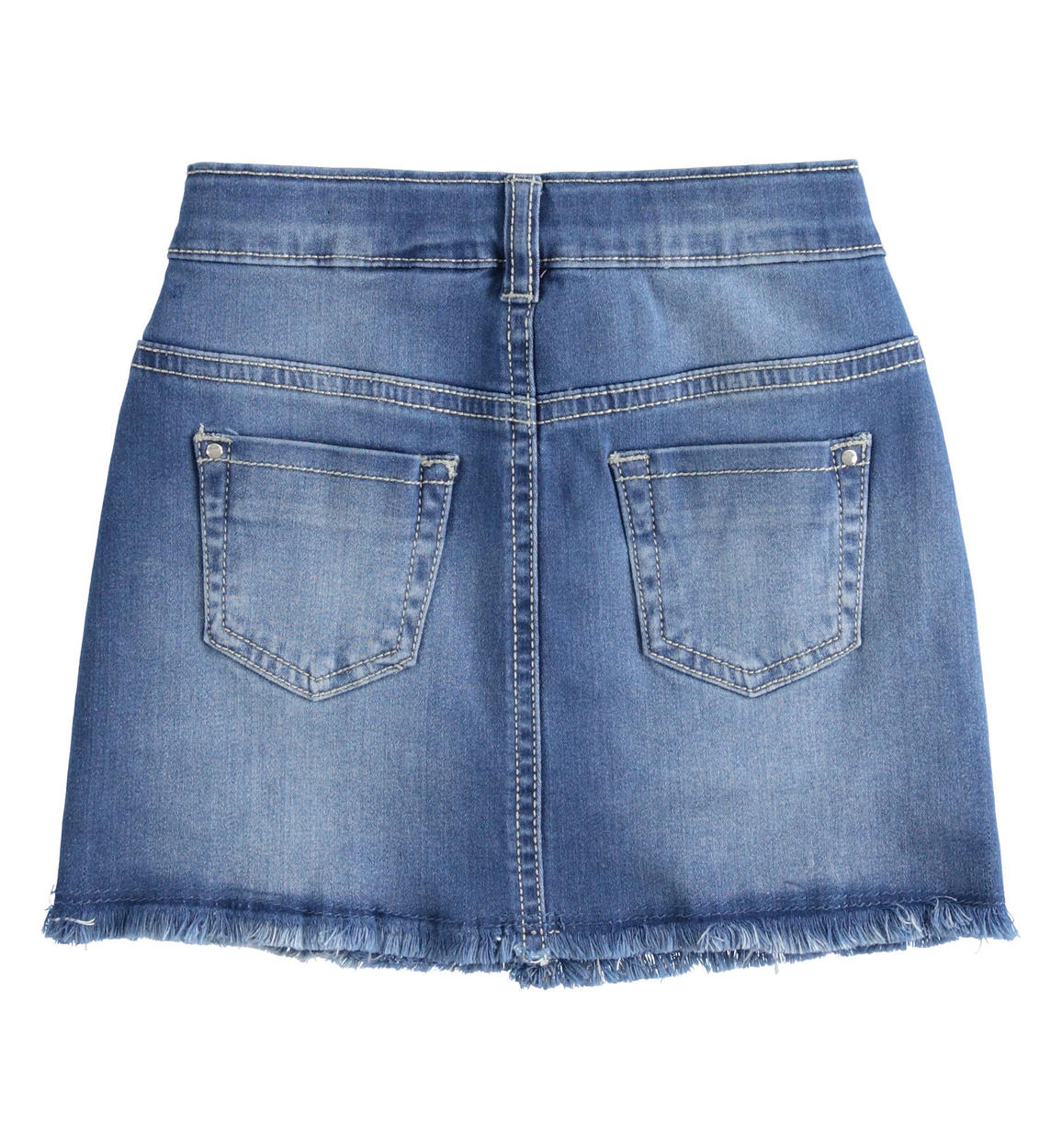 mini gonna in denim di cotone stretch co stone washed chiaro retro 02 2624j53100 7400 150x150