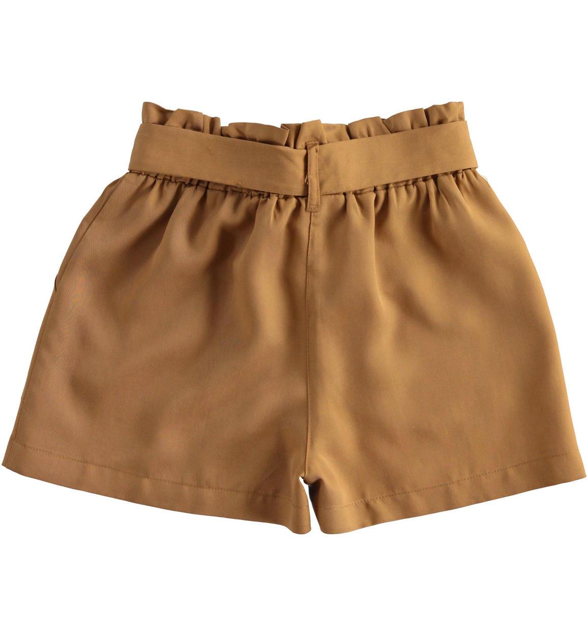 pantaloncino in morbido tessuto di lyoce beige dettaglio 03 2574j52400 1117 150x150