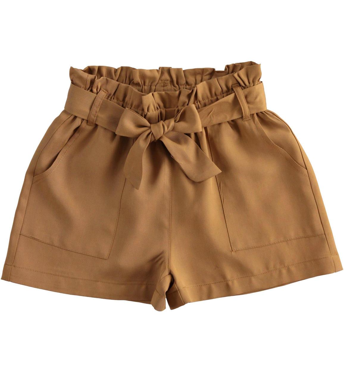 pantaloncino in morbido tessuto di lyoce beige retro 02 2574j52400 1117