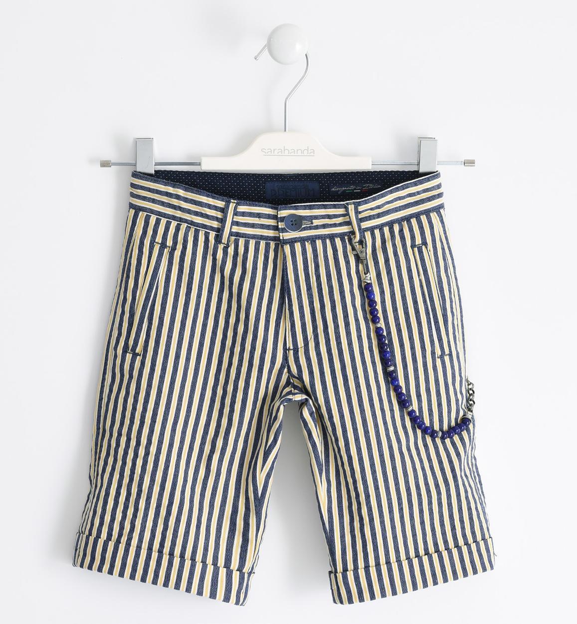 bermuda fiú csíkos rövidnadrág