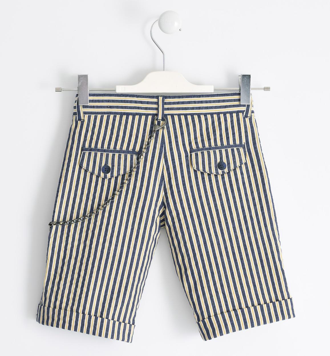 pantalone corto in popeline stretch riga ocra retro 02 2530j64000 1536 150x150