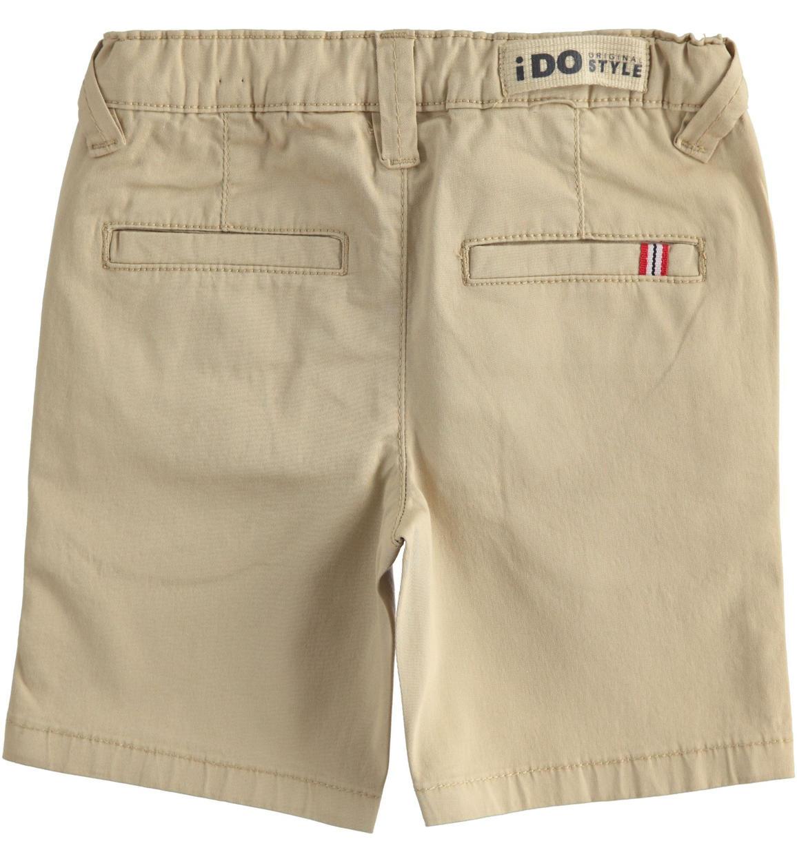 pantalone corto in twill stretch per bam beige retro 02 1234j70200 0731 150x150