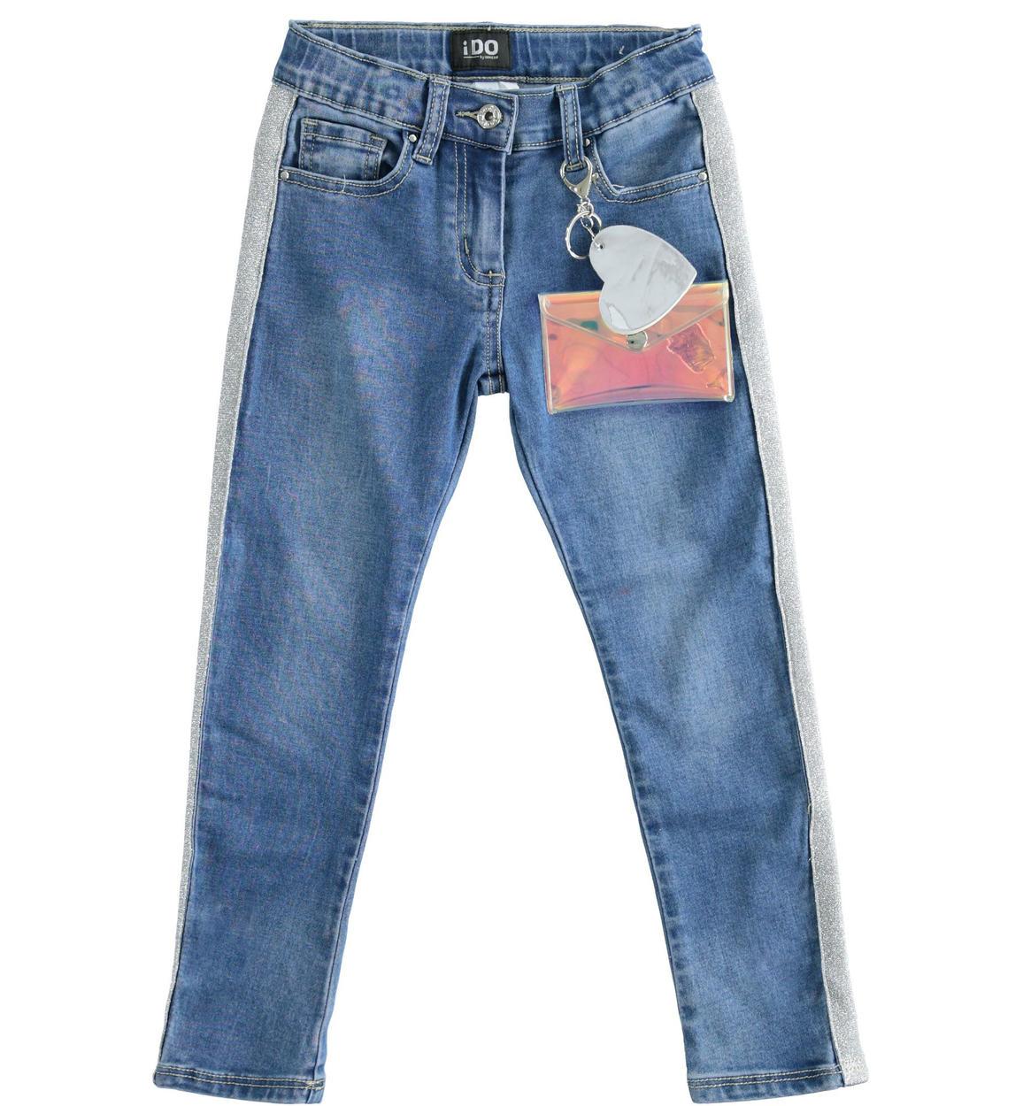 pantalone in denim di cotone stretch per stone washed chiaro retro 02 2564j52900 7400