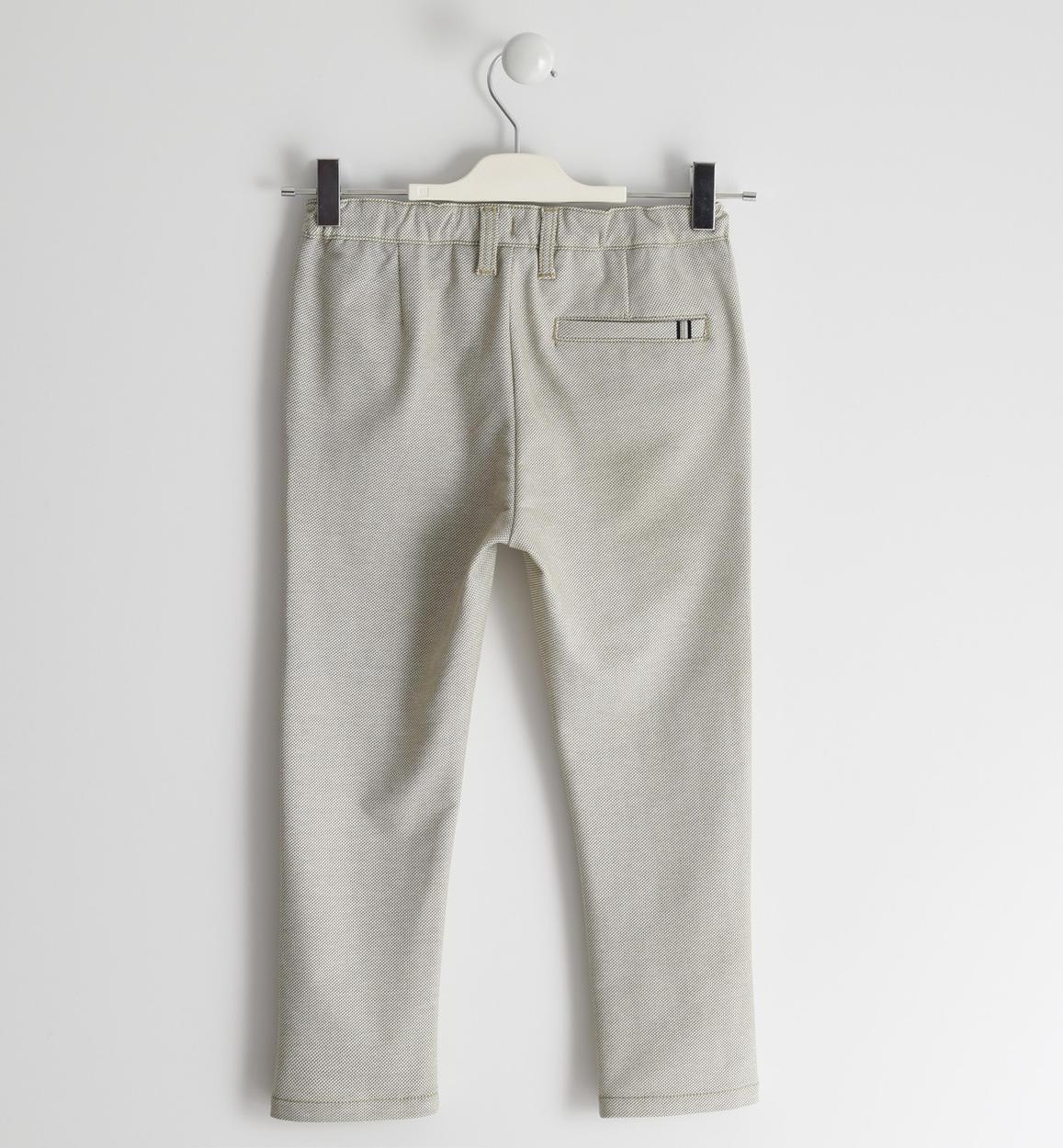 pantalone in felpina fantasia micro pois panna dettaglio 03 2524j42300 6mc7 150x150