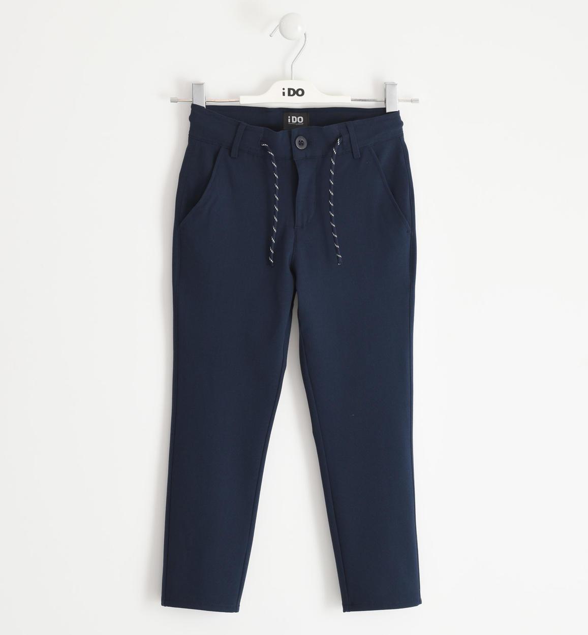 pantalone modello carrot fit per bambino navy fronte 01 2524j43300 3885