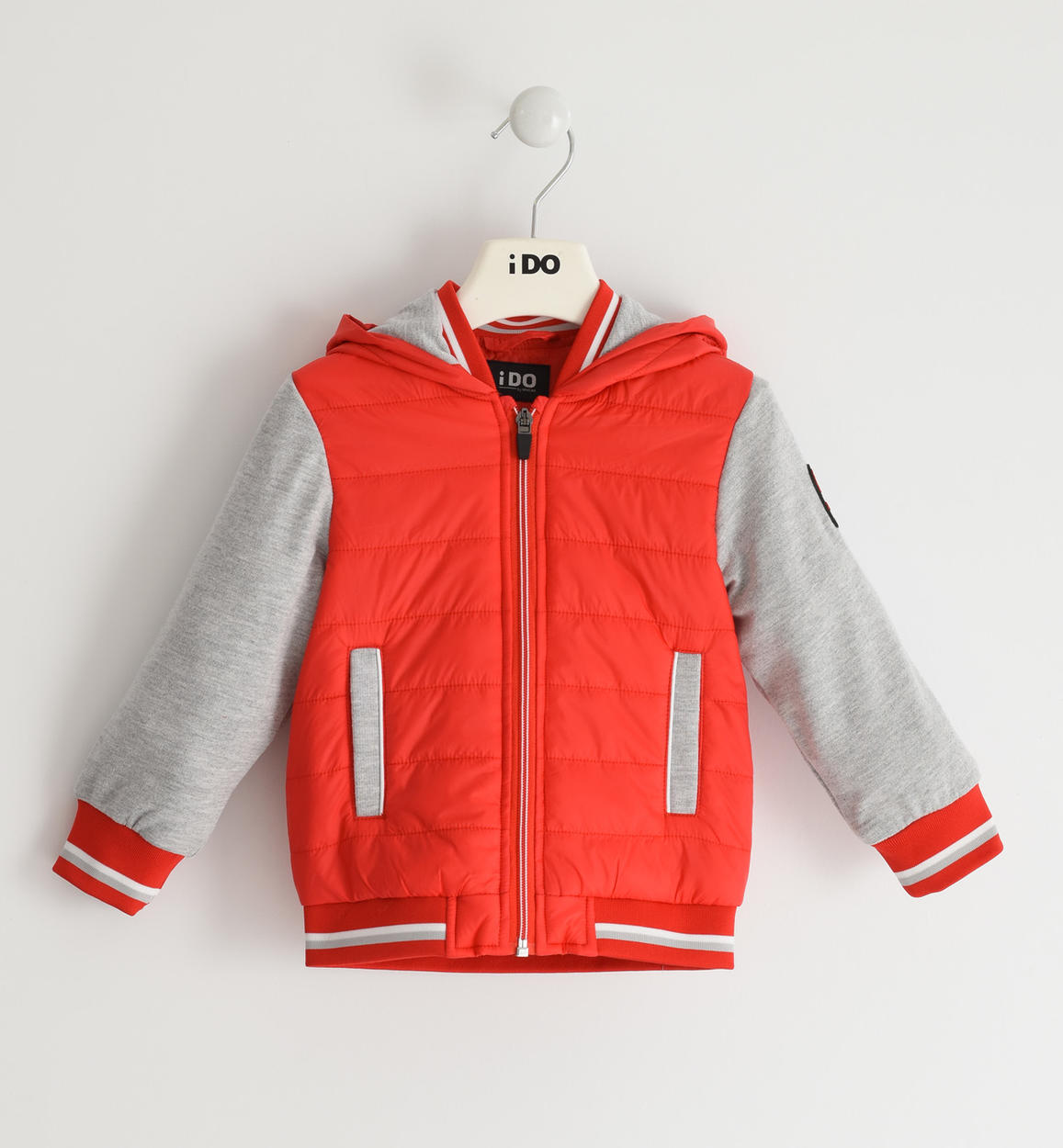 piros átmeneti kabát fiú