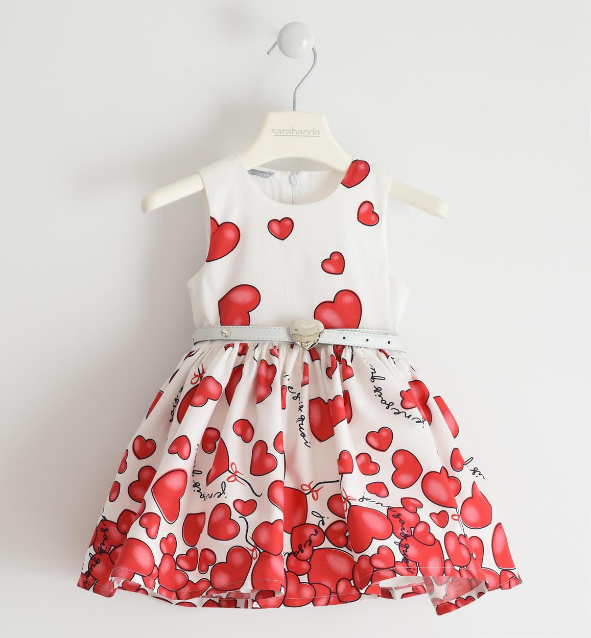 lány alkalmi szives piros fehér ruha