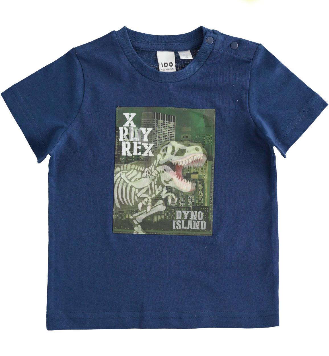 fiú kék dinós póló