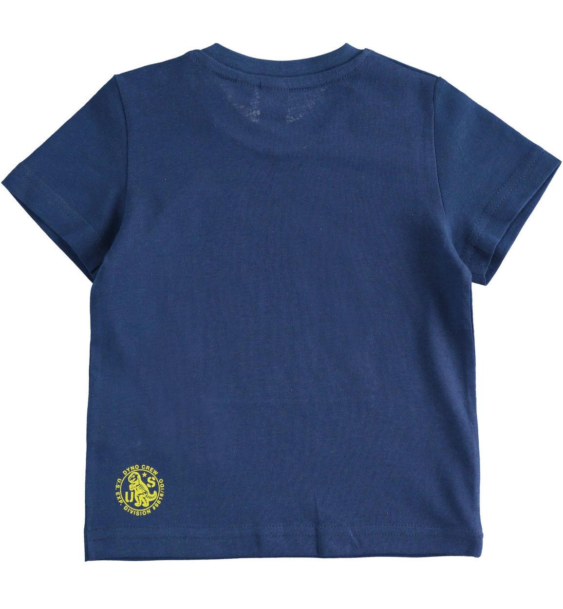 tshirt a manica corta 100 cotone con o navy retro 02 1214j68800 3547 150x150