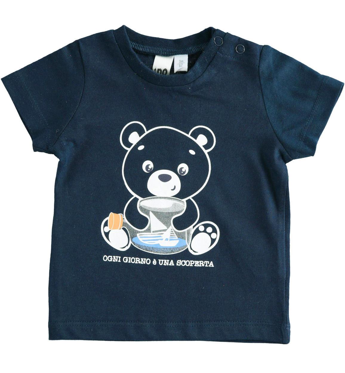 kék fiú macis póló