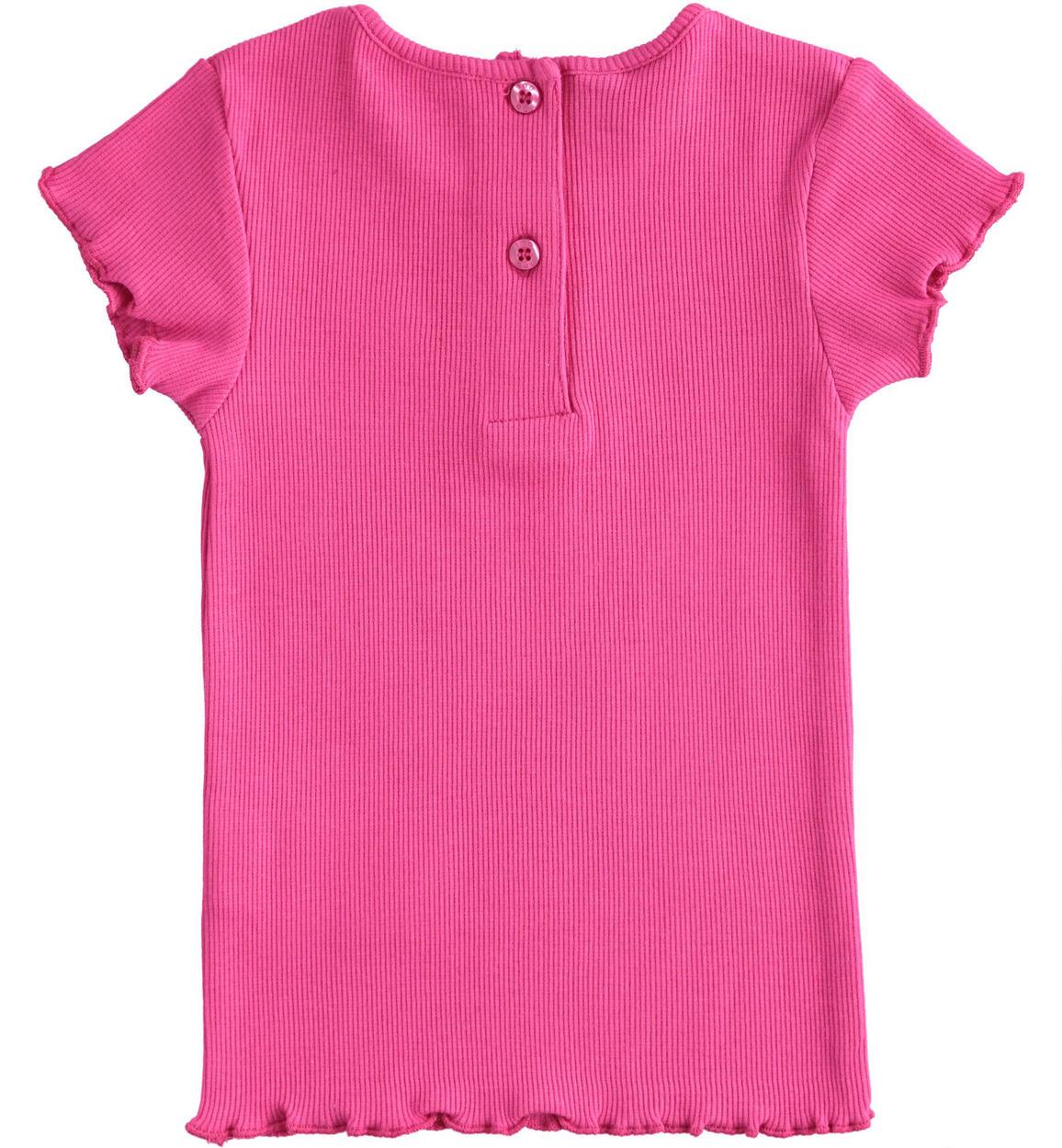 tshirt in tessuto di costina per bambin fuxia retro 02 1494j31500 2445 150x150