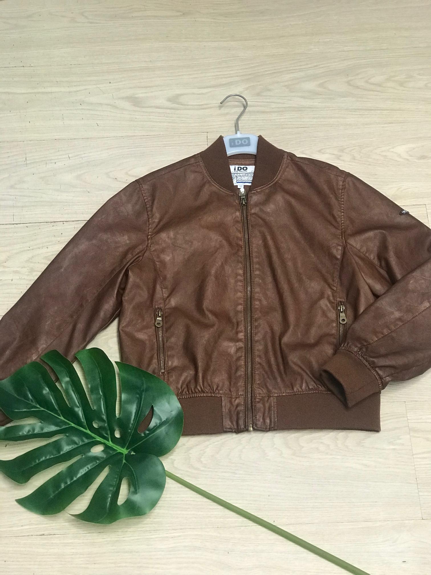 barna textilbőr fiú kabát dzseki