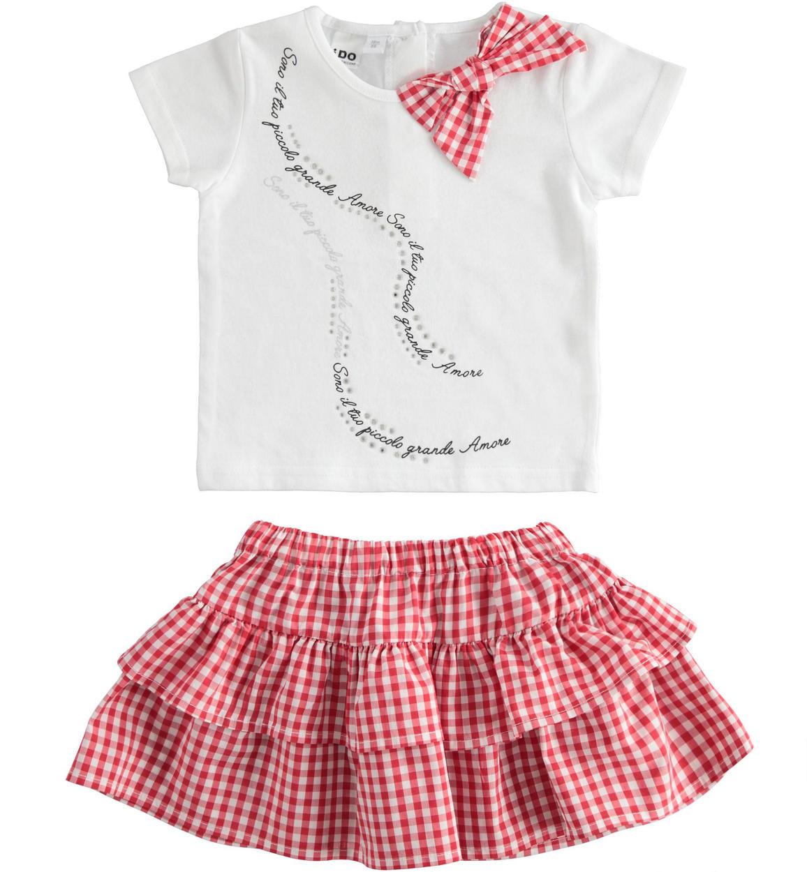 kislány szoknya és póló germekruházat