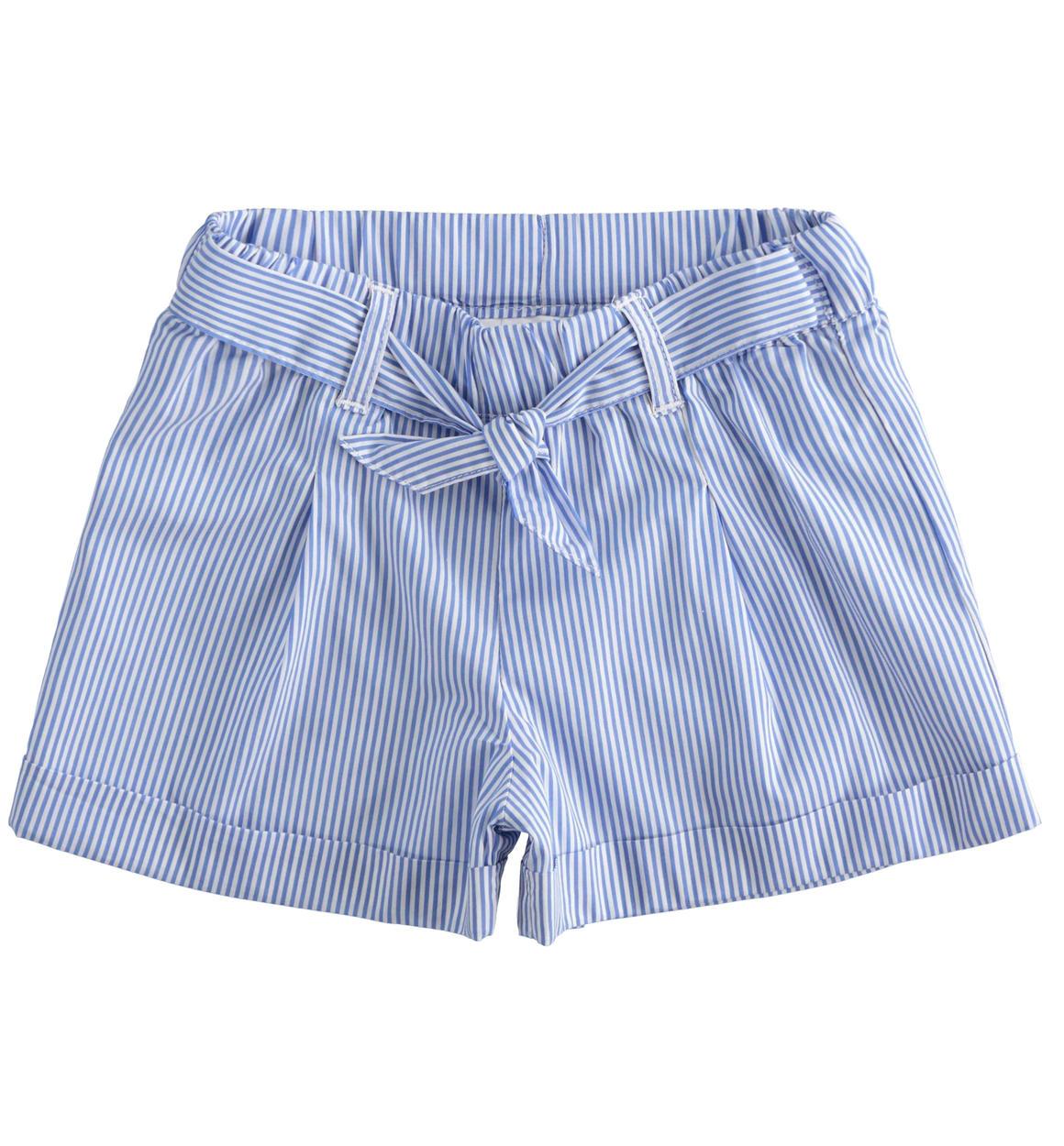 kék-fehér csíkos megköthető magasderekú kislány gyerek rövidnadrág