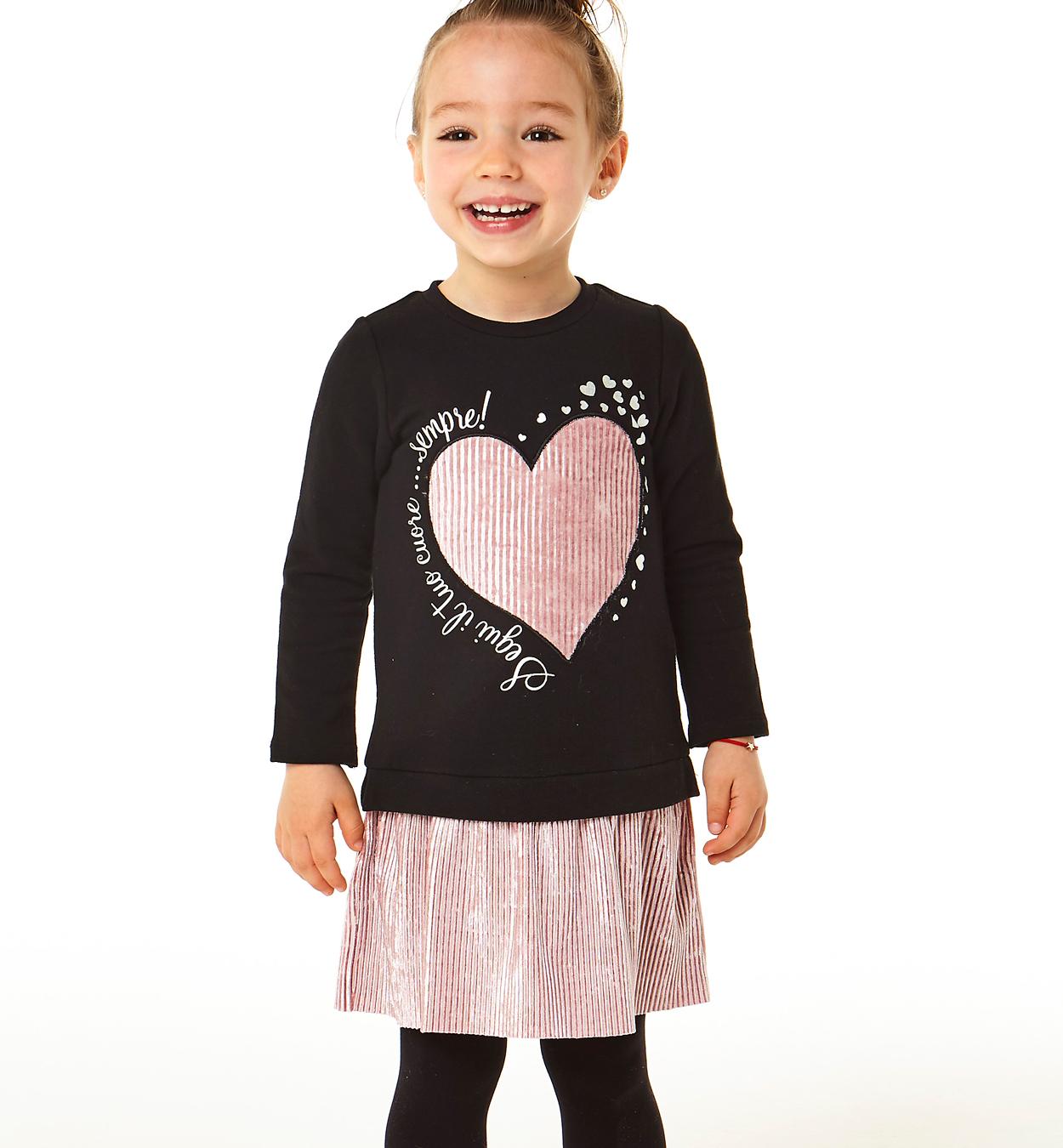 szívecskés kislány ruha