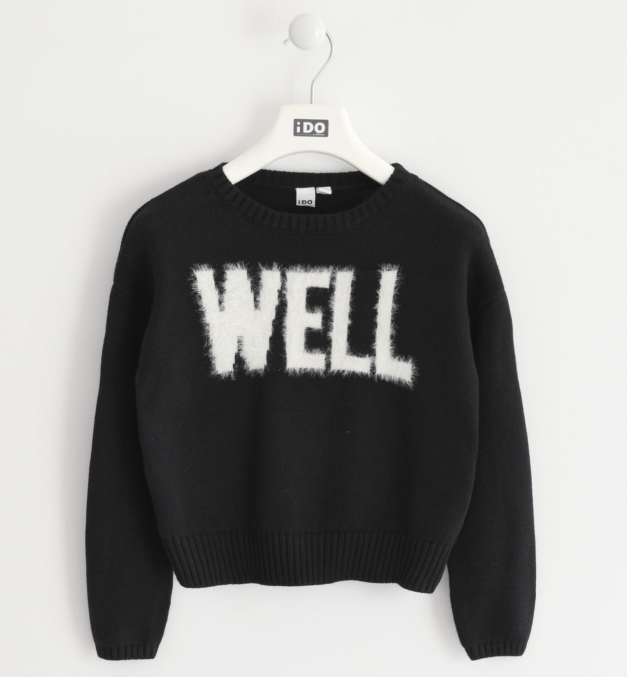 fekete kislány kötött pulóver
