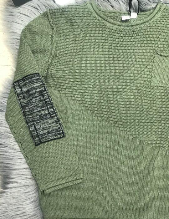 Zöld kötött pulóver