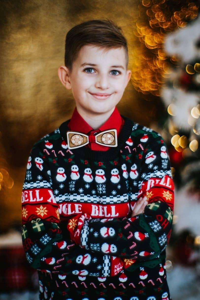 karácsonyi fiú pulóver