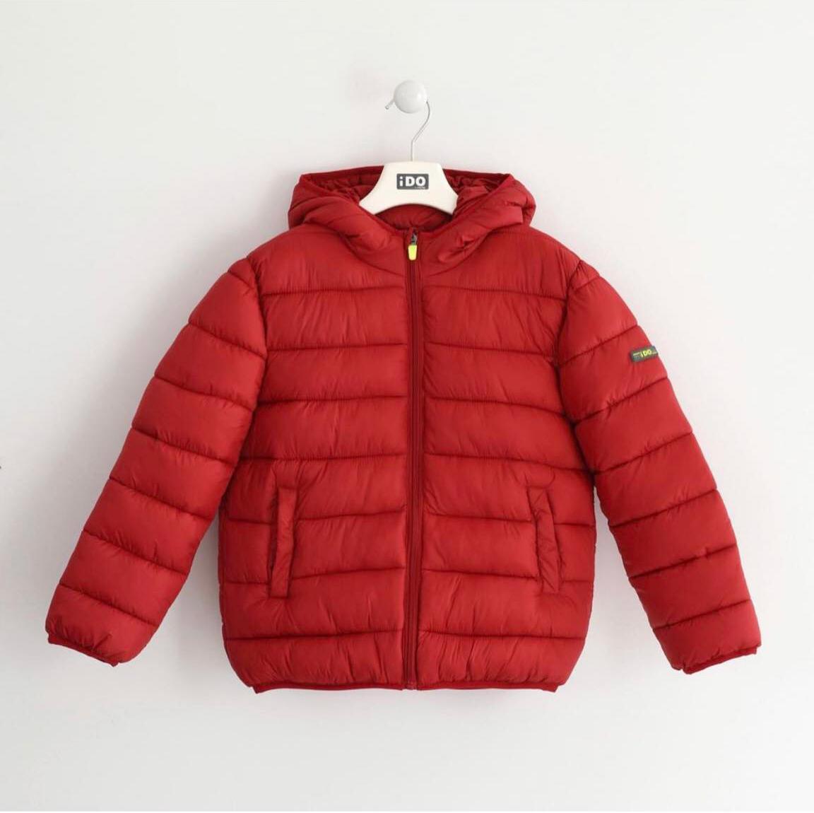 piros téli kabát fiú