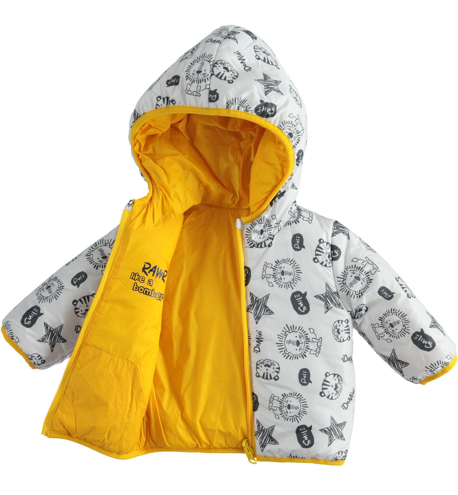 Kifordítható kisfiú újszülött kabát
