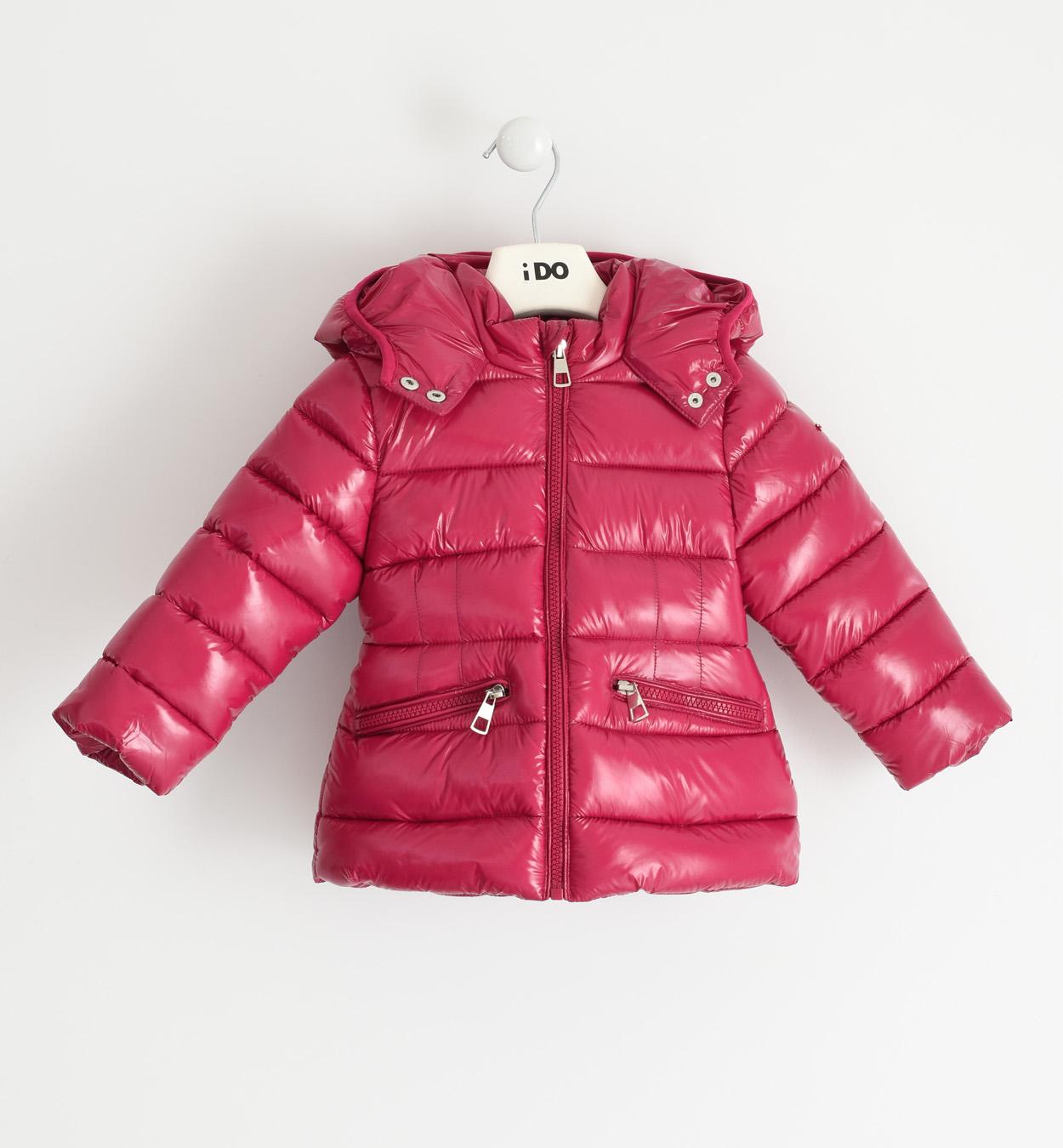 málna színmú gyermek kislány téli kabát