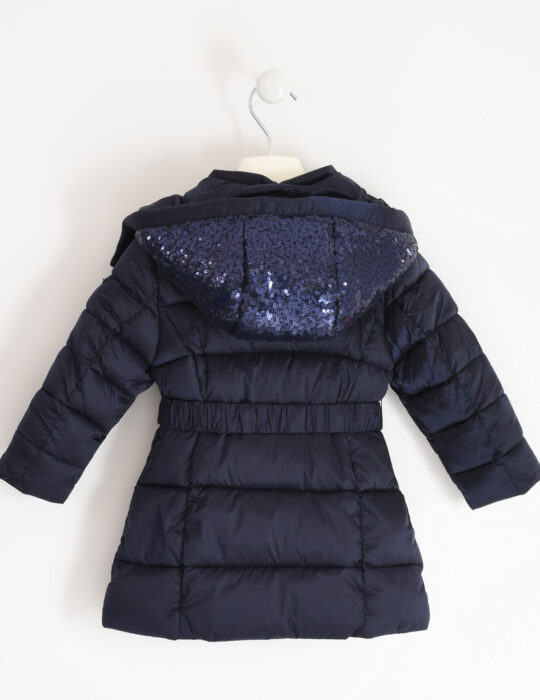 Kék gyermek kislány flitteres kabát