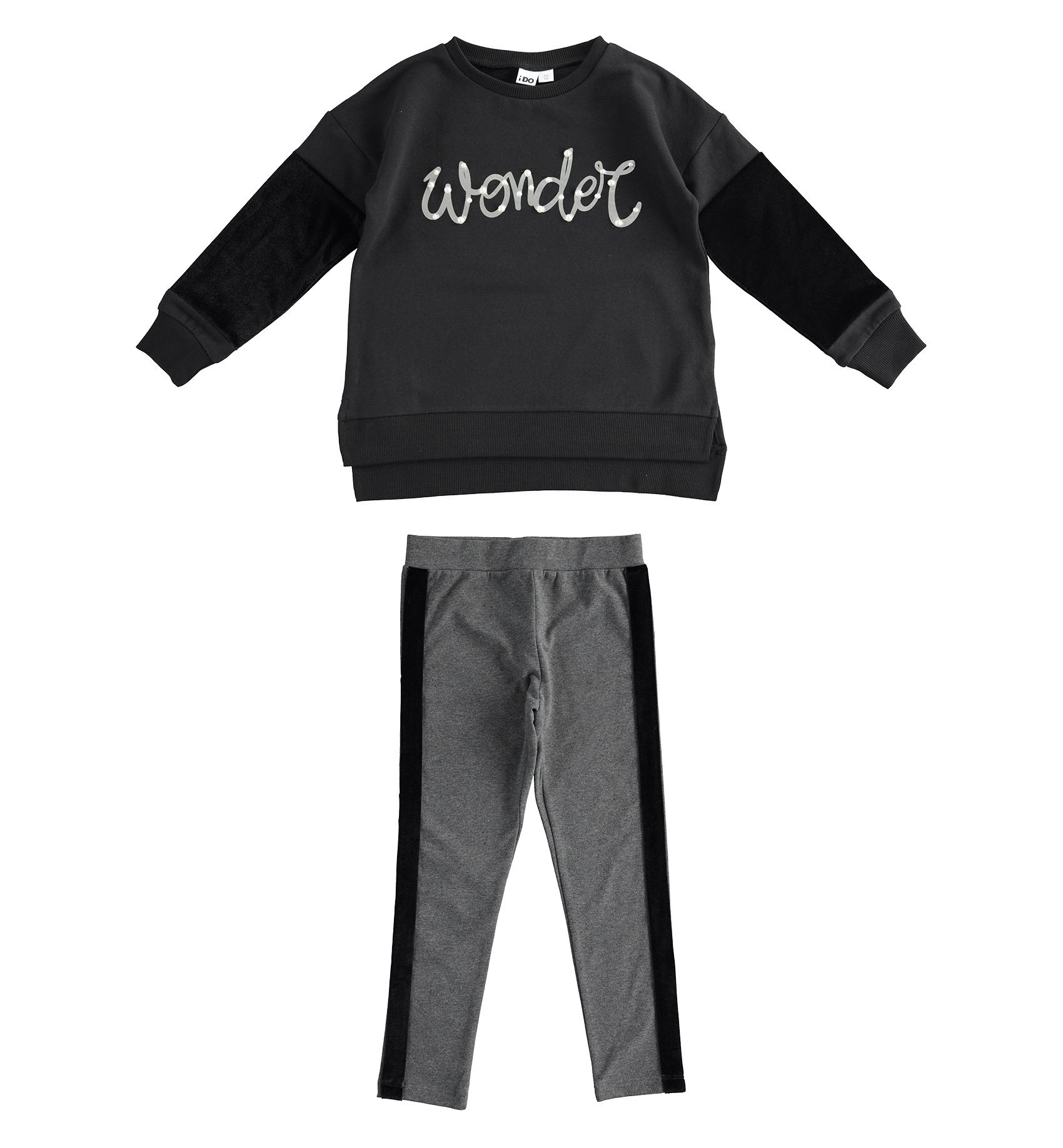 fekete pamut felső pamut leggings