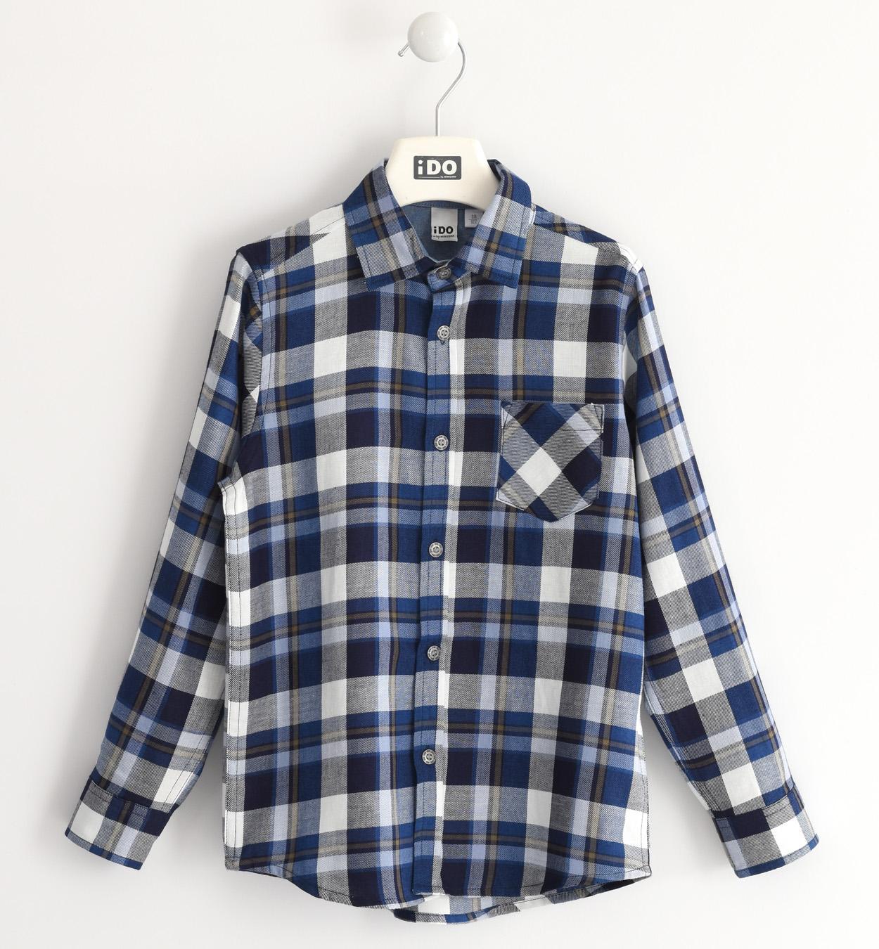kék kockás gyermek fiú ing