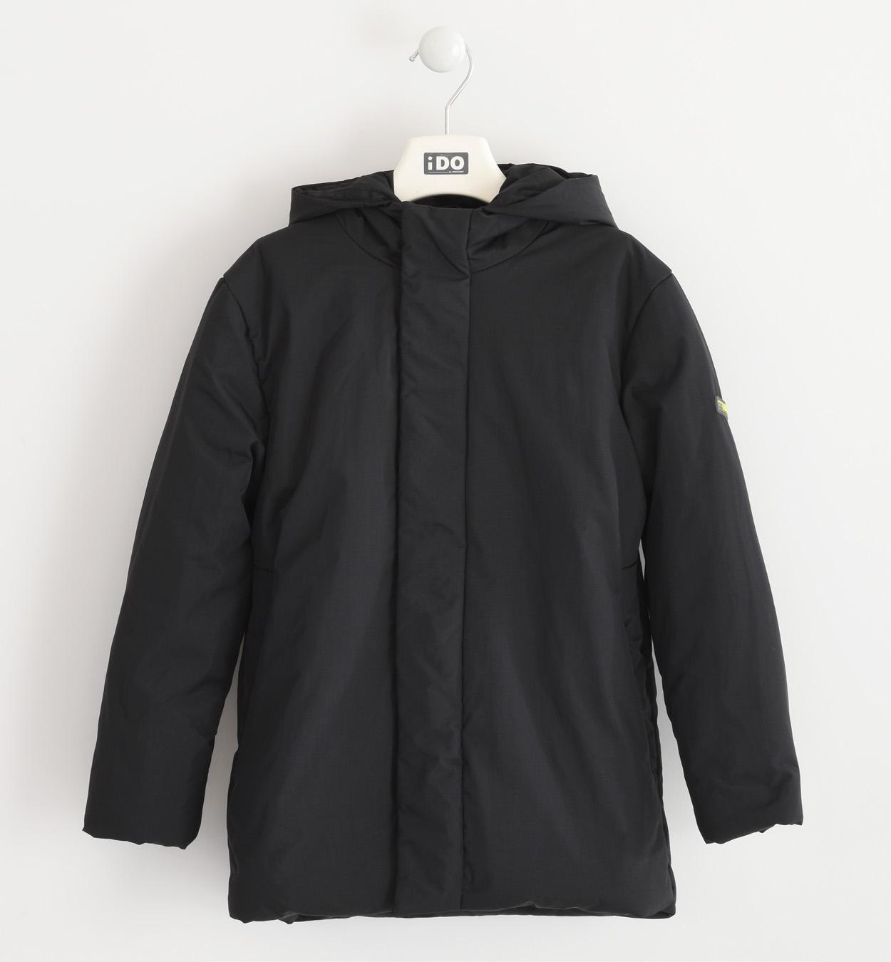 fekete fiú téli kabát