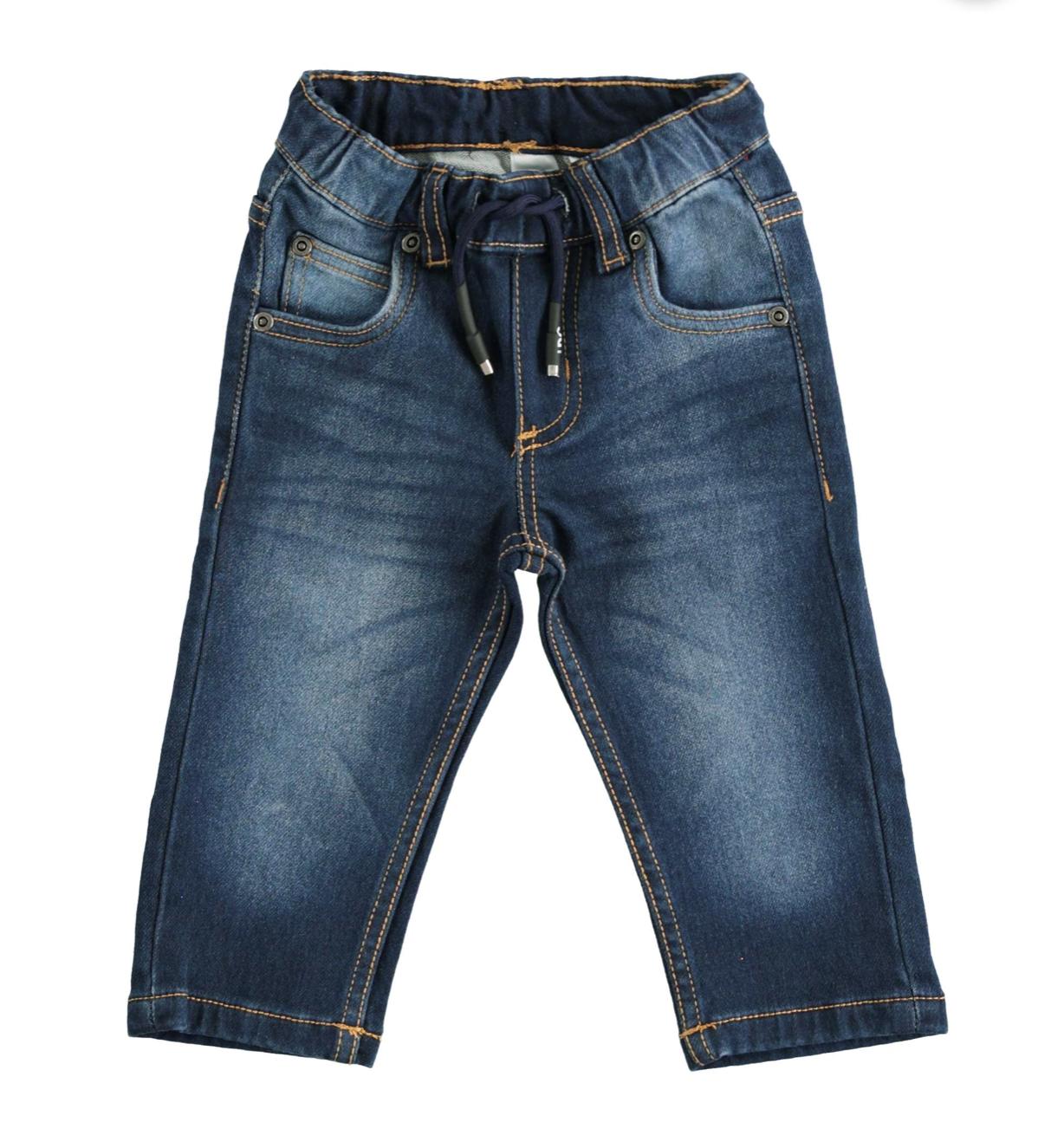pamut farmerhatású megkötős nadrág
