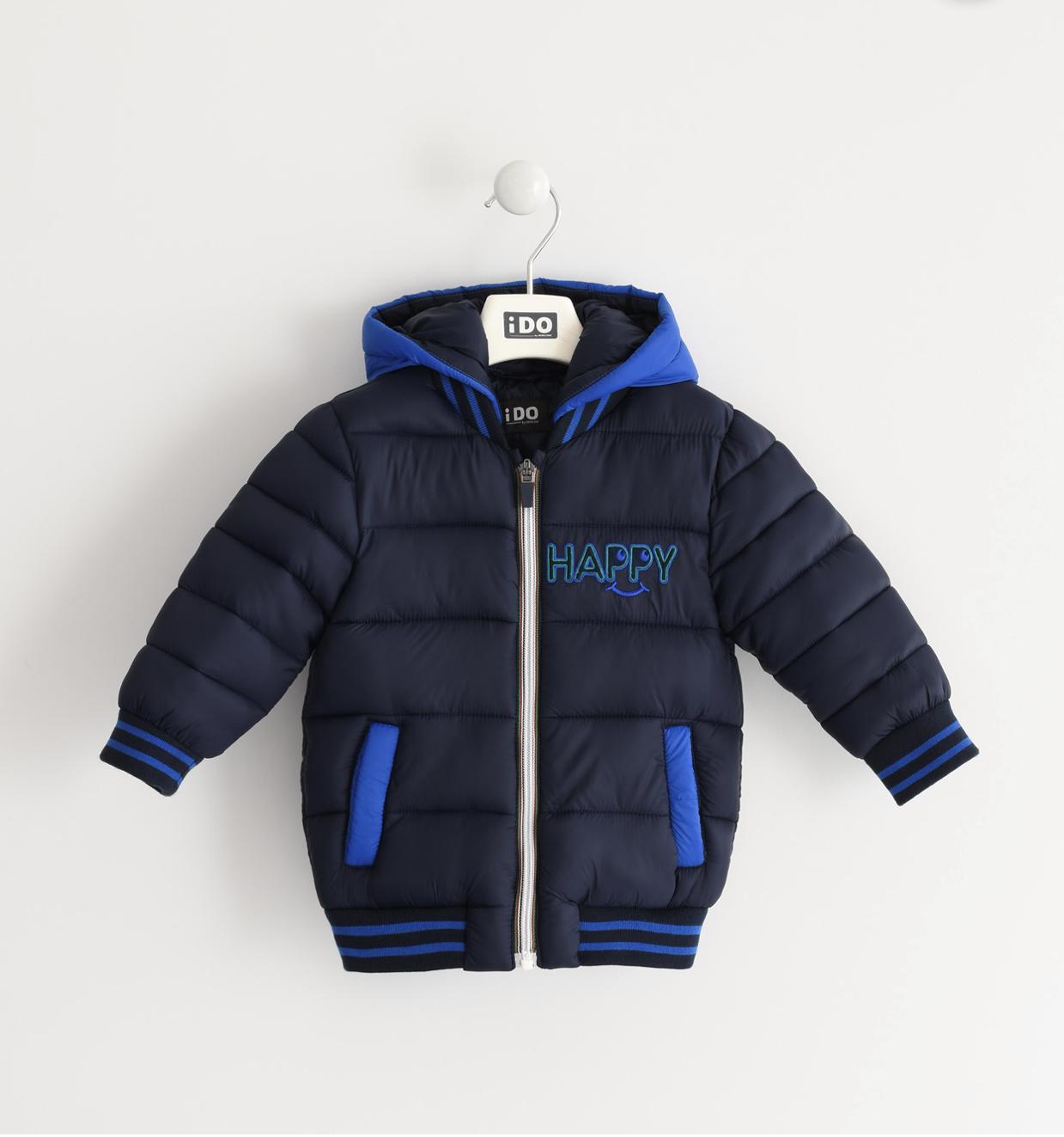 Kék kisfiú kabát levehető kapucnival