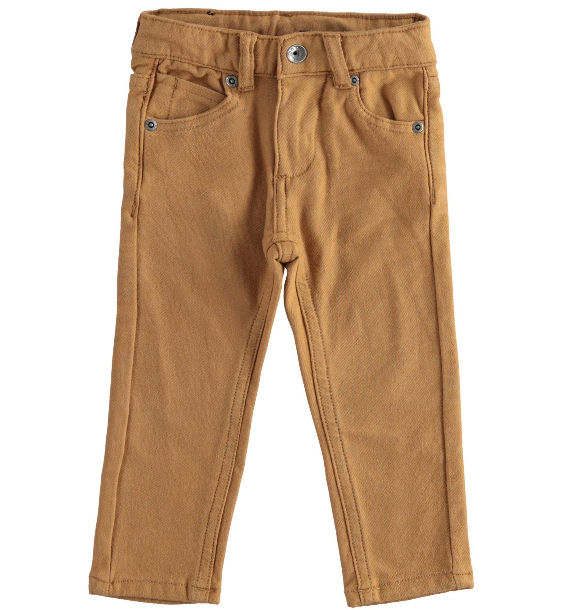 Barna pamut nadrág állítható derékbőséggel