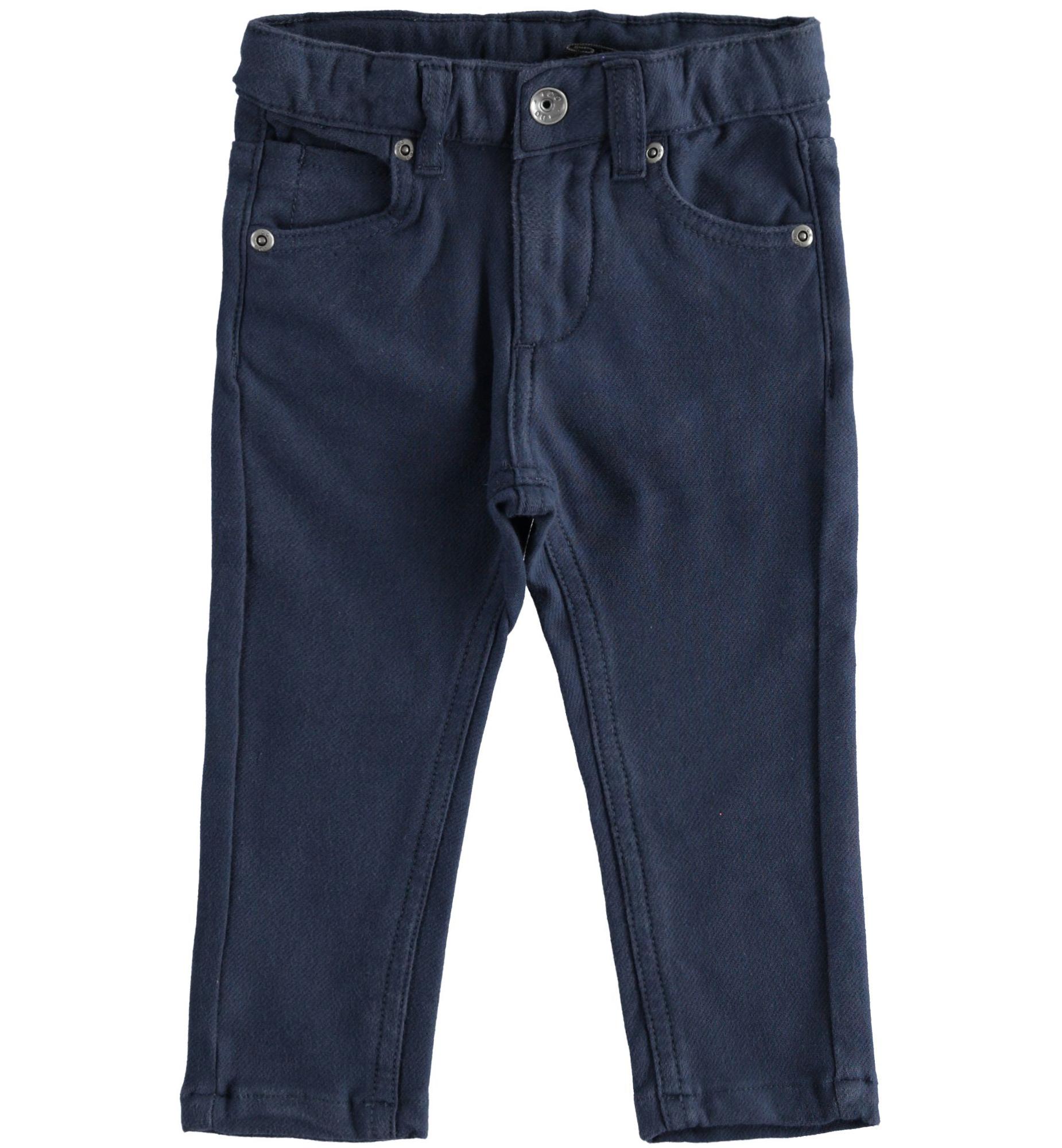 Kék pamut nadrág állítható derékbőséggel