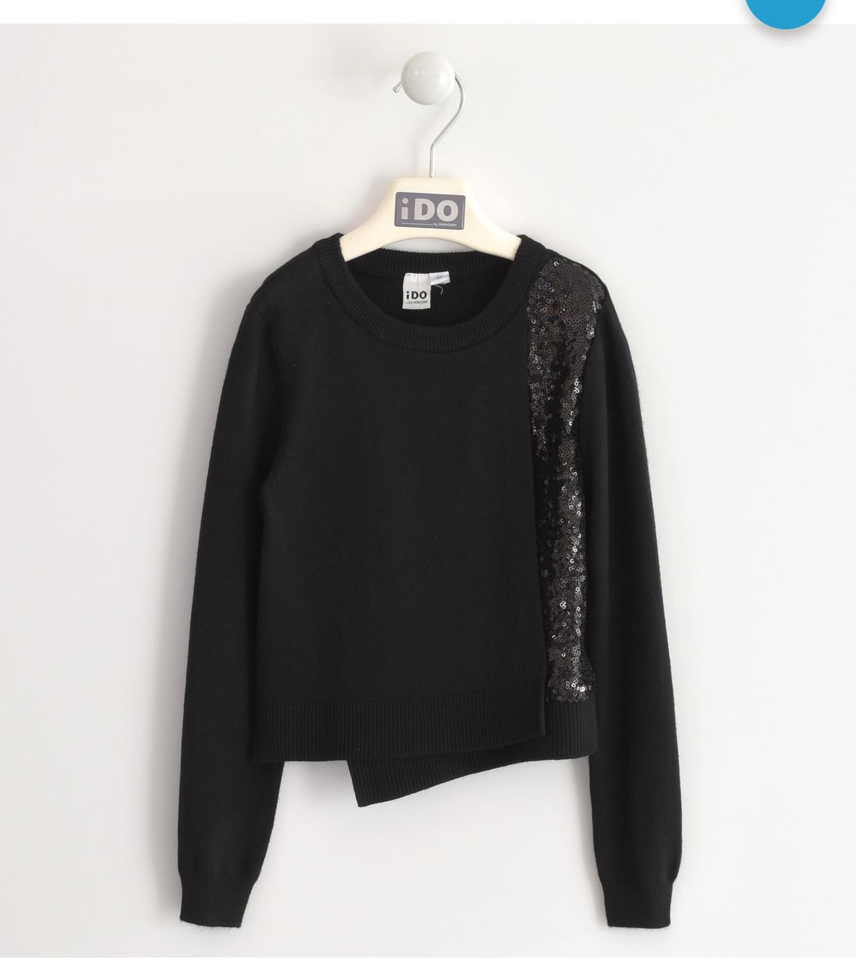 fekete kislány flitteres boleró pulóver