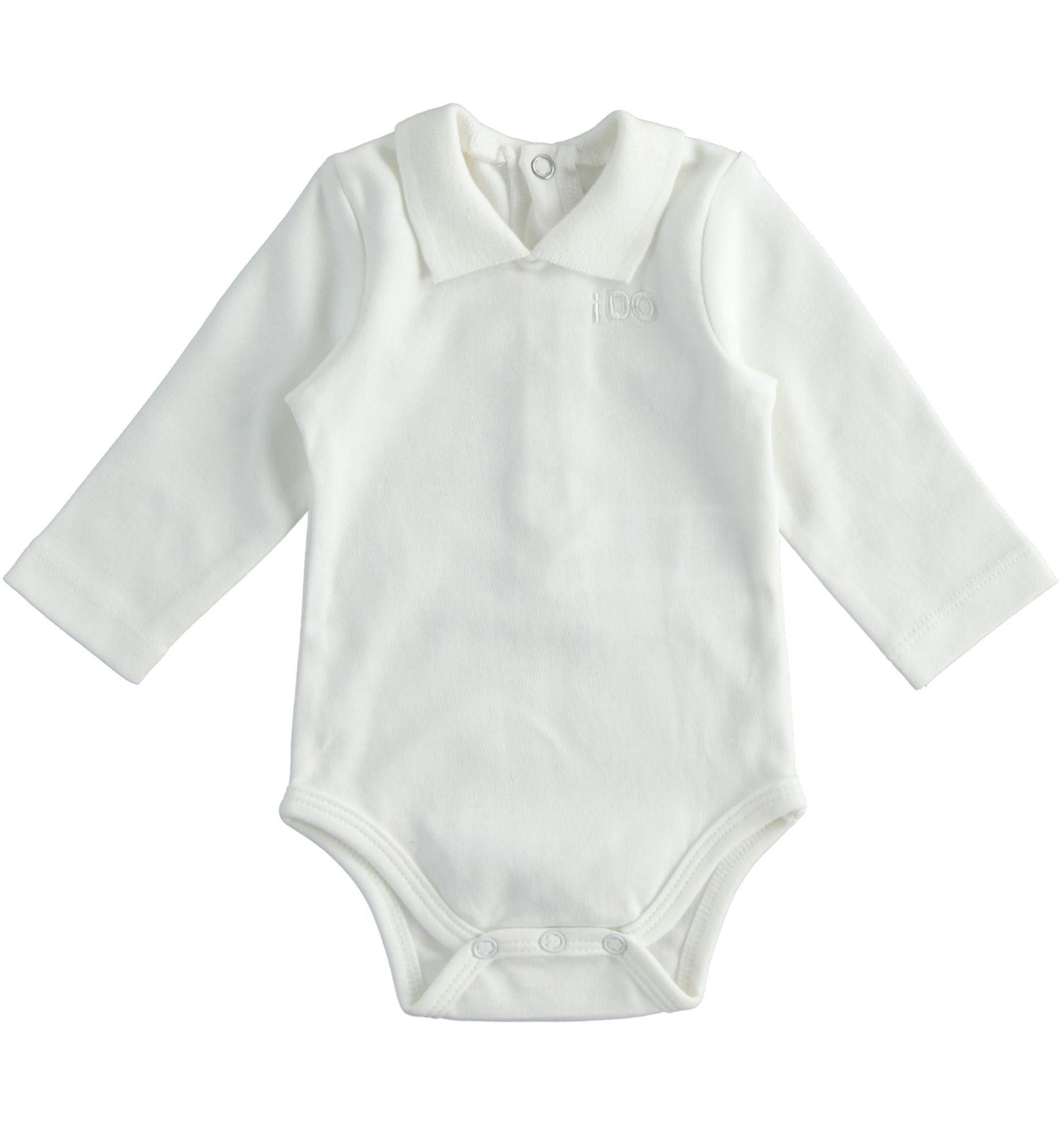 kidfiú újszülött galléros fehér body
